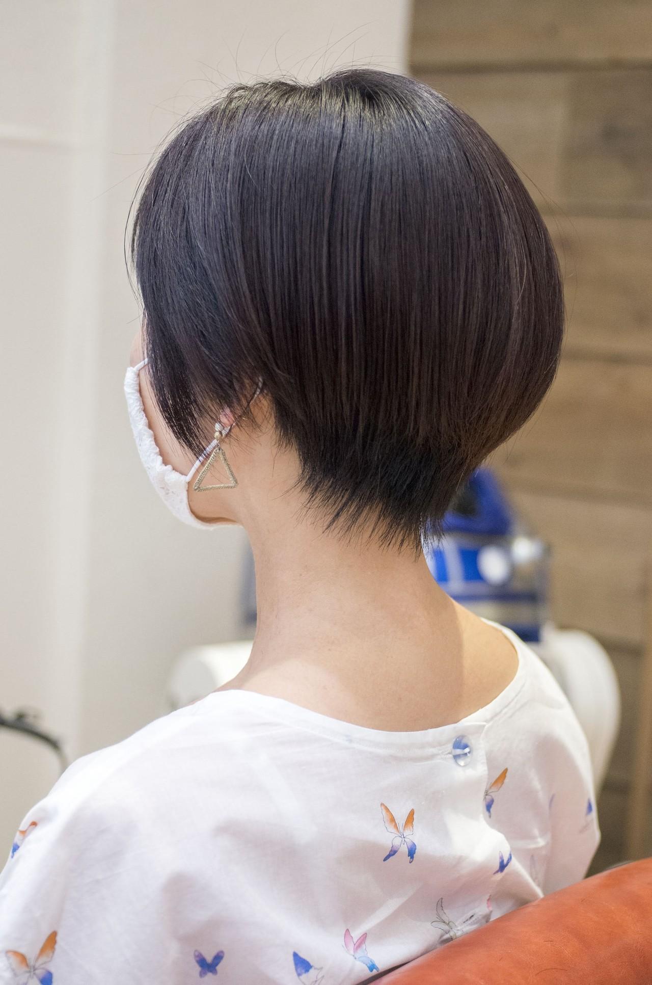 ショートヘア ハンサムショート 前下がりショート マッシュショート ヘアスタイルや髪型の写真・画像 | 荒巻 充 / トライベッカ浦和店