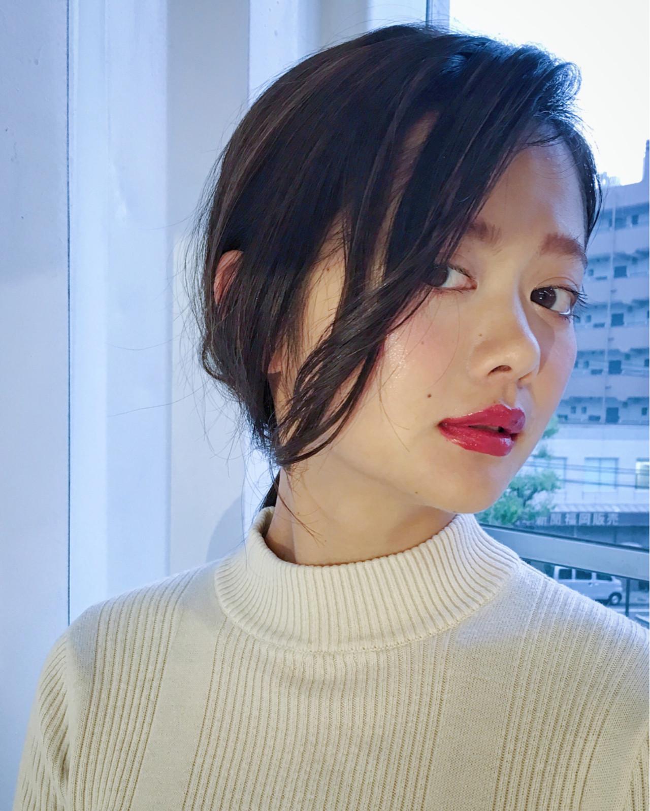 デート モード リラックス 簡単ヘアアレンジ ヘアスタイルや髪型の写真・画像   Sachiko Handa / assort