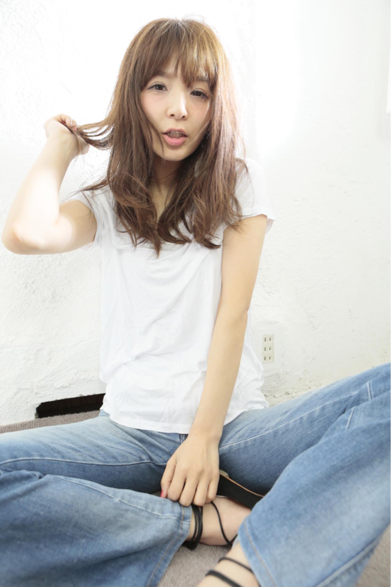 ゆるふわ ナチュラル セミロング フェミニン ヘアスタイルや髪型の写真・画像 | 清水桃子 / ミルクブッシュ / ミルクブッシュ