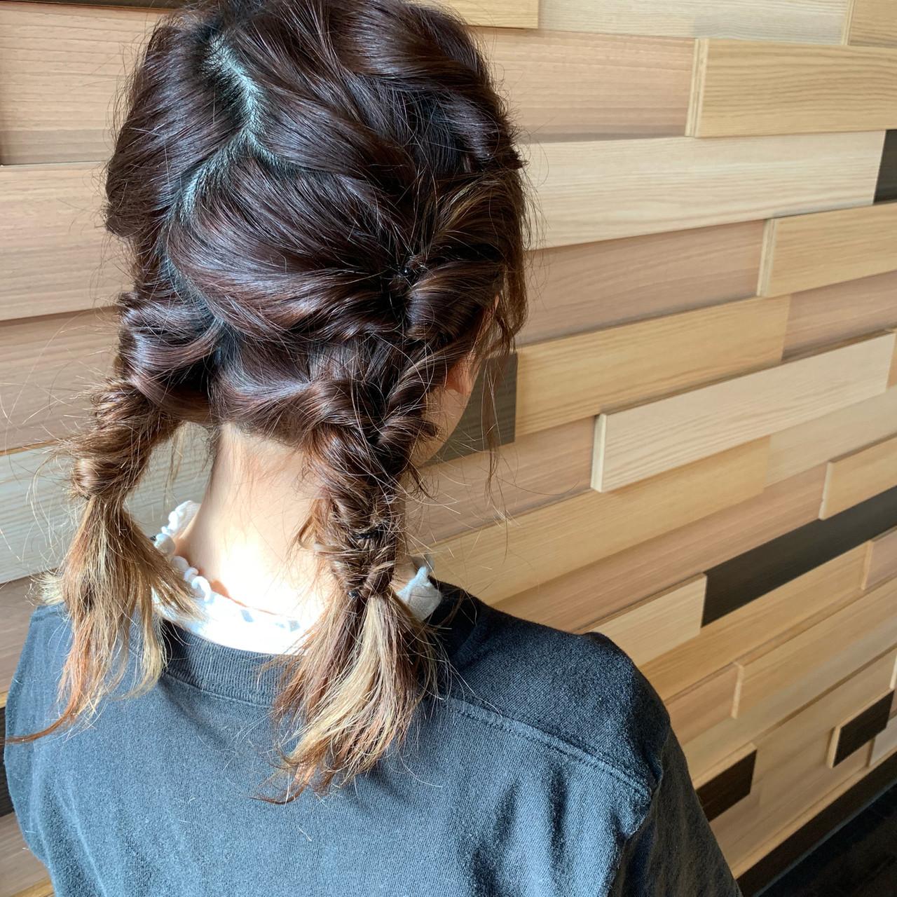 簡単ヘアアレンジ 成人式 ミディアム デート ヘアスタイルや髪型の写真・画像   松田 和幸 / tuuli
