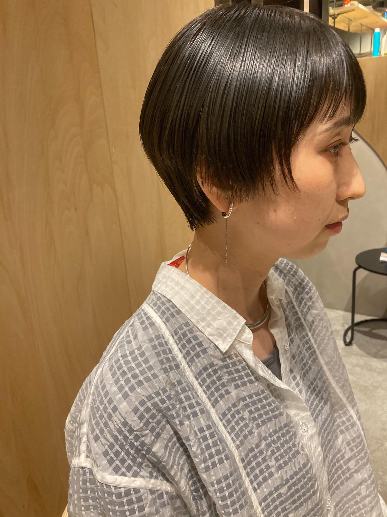 ショートボブ ベリーショート ハンサムショート ショート ヘアスタイルや髪型の写真・画像   bibito 内井 / bibito