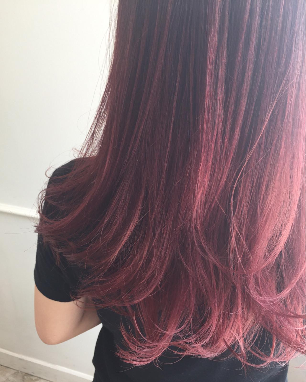 ピンク ラベンダーピンク グラデーションカラー ストリート ヘアスタイルや髪型の写真・画像 | 佐々田 広大 / Chord【コード】