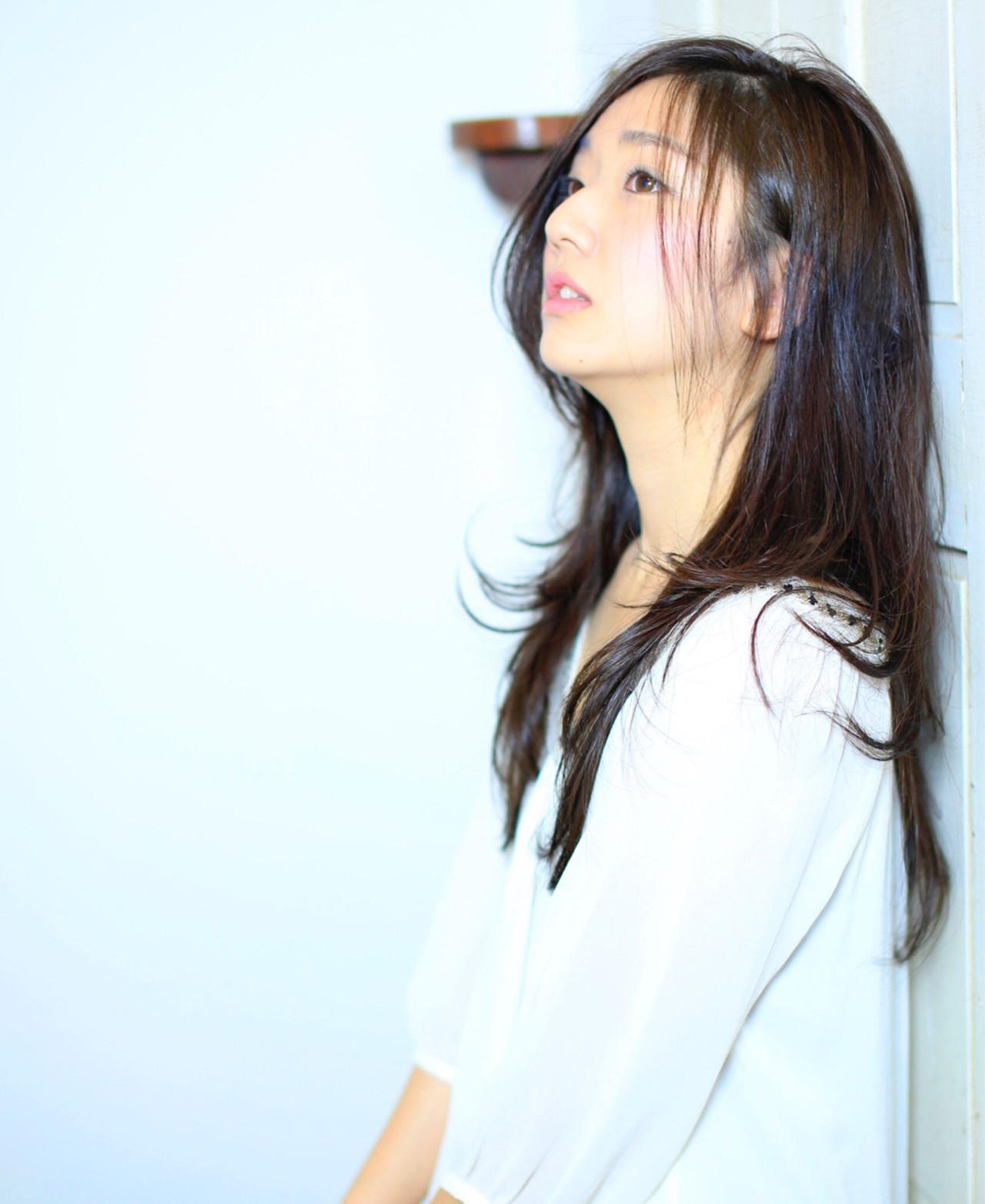 大人かわいい 愛され レイヤーカット ロング ヘアスタイルや髪型の写真・画像 | 渡辺拓吏【NUM】 / hair salon NUM
