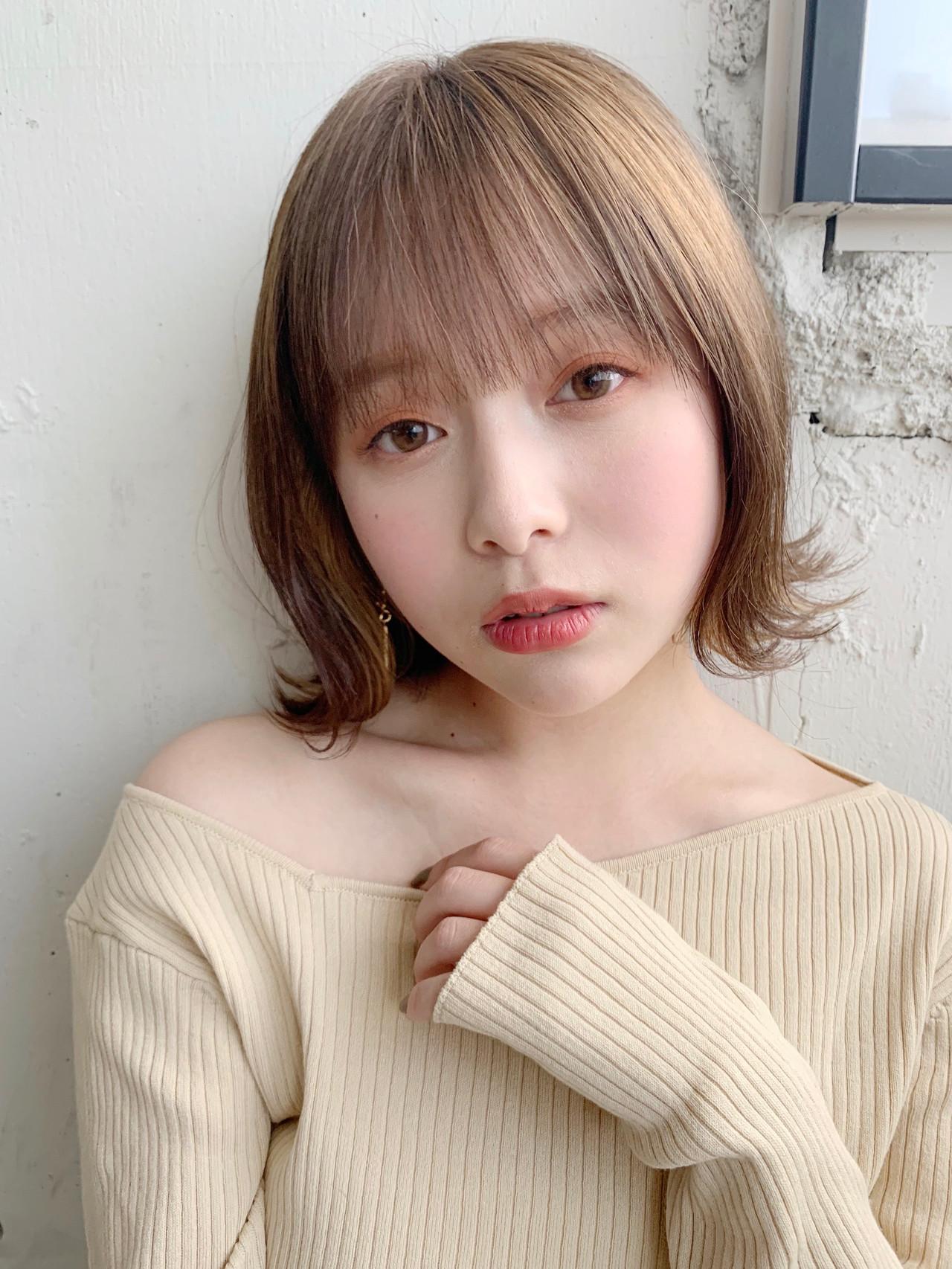 ショートボブ インナーカラー ナチュラル ボブ ヘアスタイルや髪型の写真・画像   Natsuko Kodama 児玉奈都子 / dydi