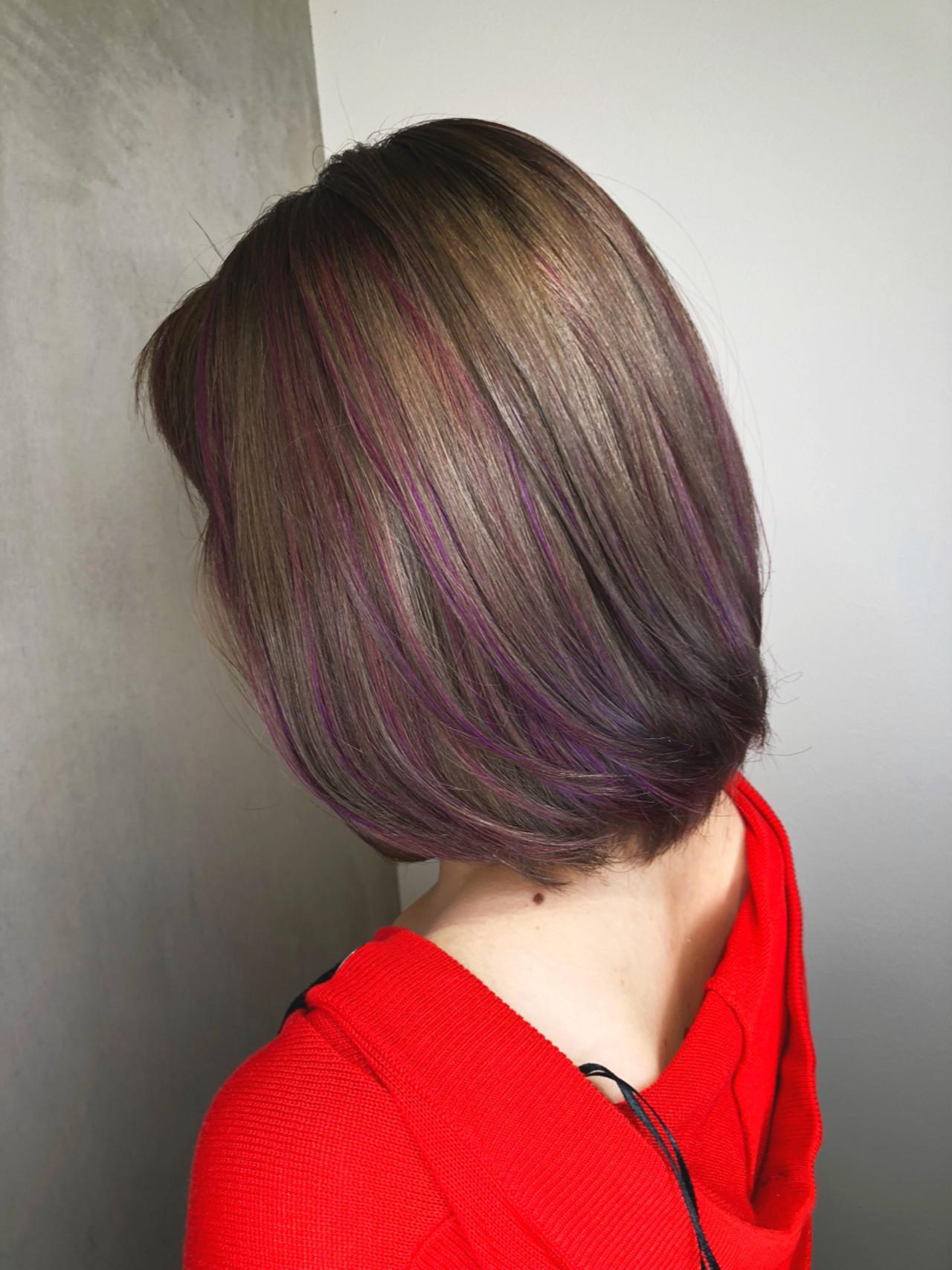 フェミニン ハイライト アウトドア レッド ヘアスタイルや髪型の写真・画像 | 筒井 隆由 / Hair salon mode
