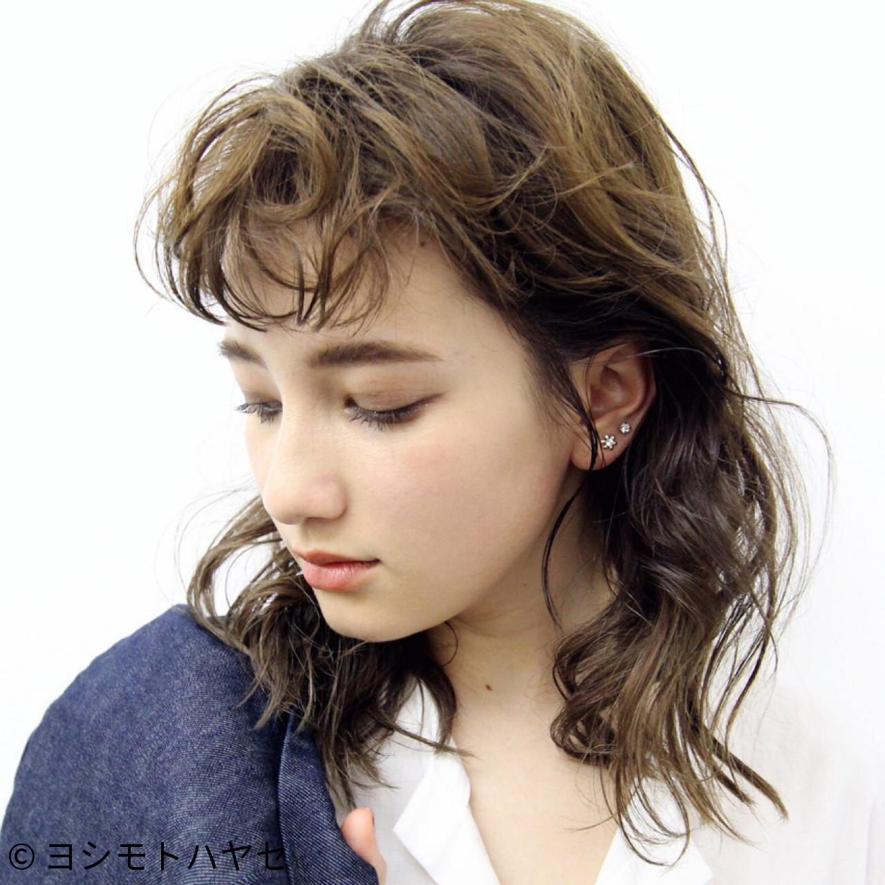 パーマ グレージュ アンニュイ 秋 ヘアスタイルや髪型の写真・画像   hayase (ヨシモトハヤセ) / Nove Lina