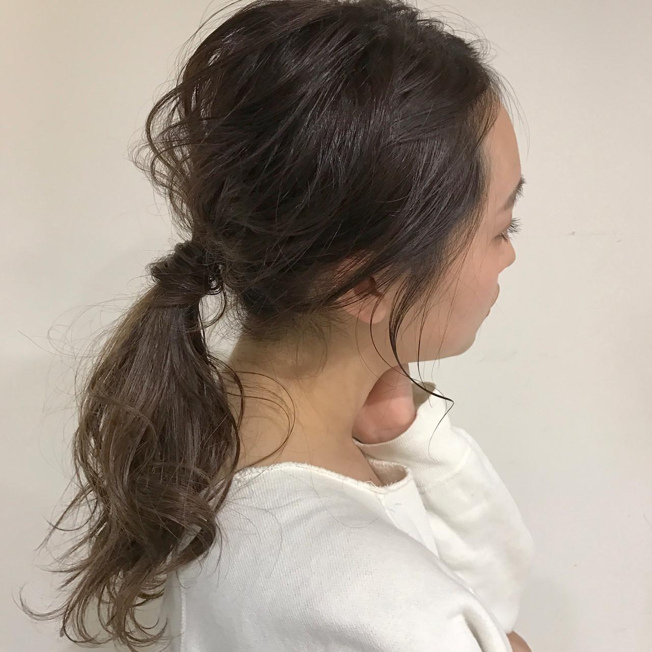 ミディアム ミルクティー ナチュラル ヘアアレンジ ヘアスタイルや髪型の写真・画像   佐々木拓巳 / GARDEN harajuku