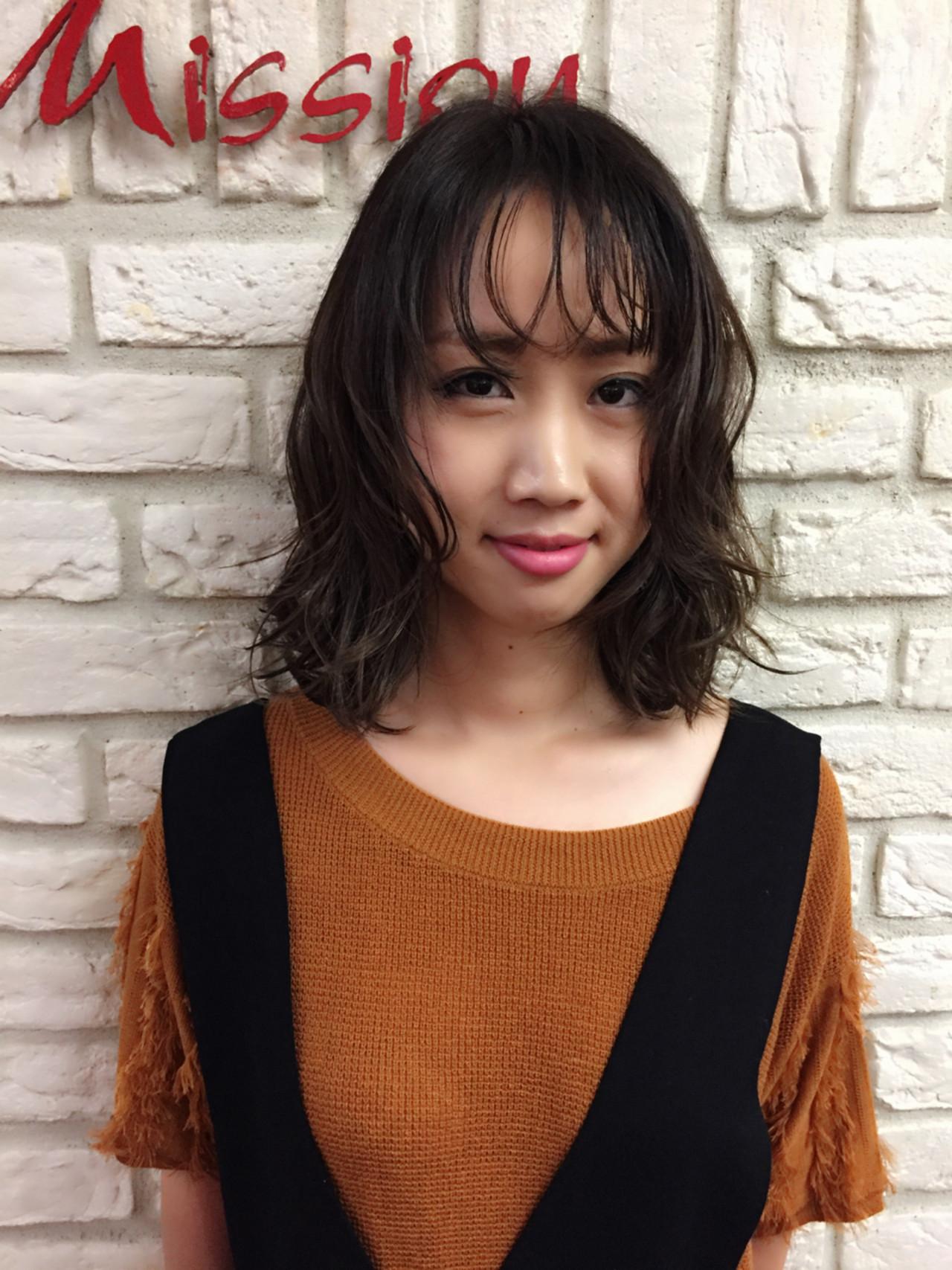 くせ毛風 ストリート ボブ 外国人風 ヘアスタイルや髪型の写真・画像 | 堂園知里 / hair Mission