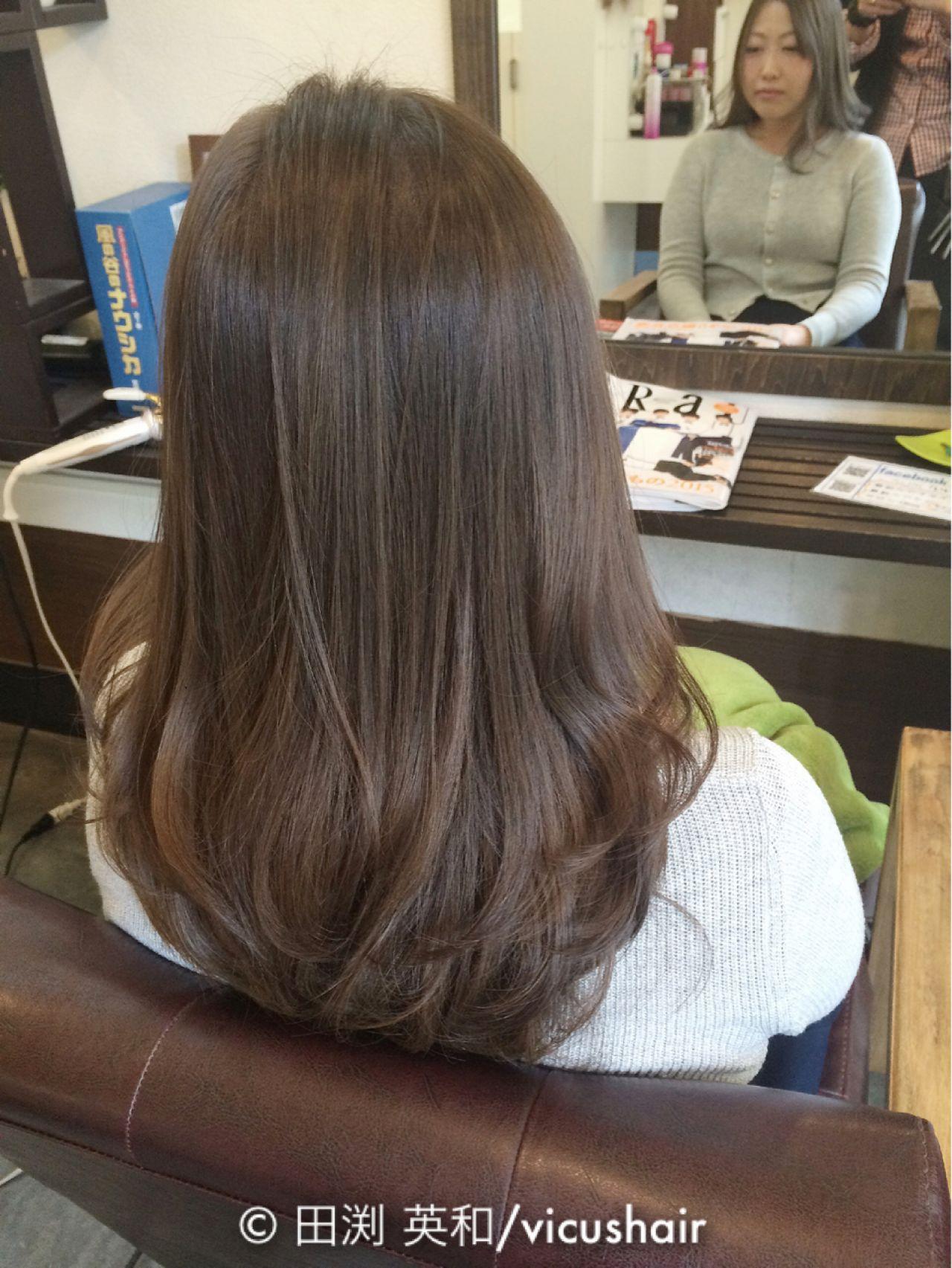 アッシュ 黒髪 グラデーションカラー 大人かわいいヘアスタイルや髪型の写真・画像