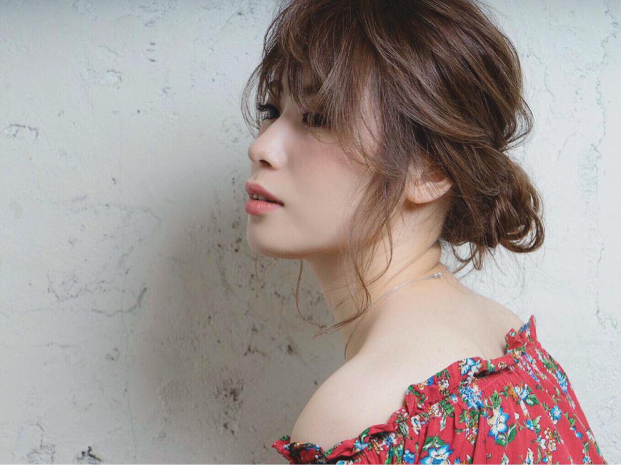ミディアム 大人かわいい 簡単ヘアアレンジ ショート ヘアスタイルや髪型の写真・画像 | NATSUKI /