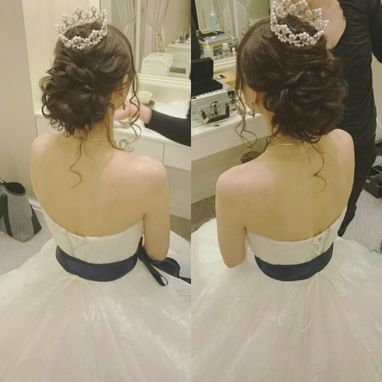 大人かわいい ドレス ゆるふわ ヘアアレンジ ヘアスタイルや髪型の写真・画像 | 美和遥 FITZ(フィッツ) / 富士美容院 FITZ (フィッツ)
