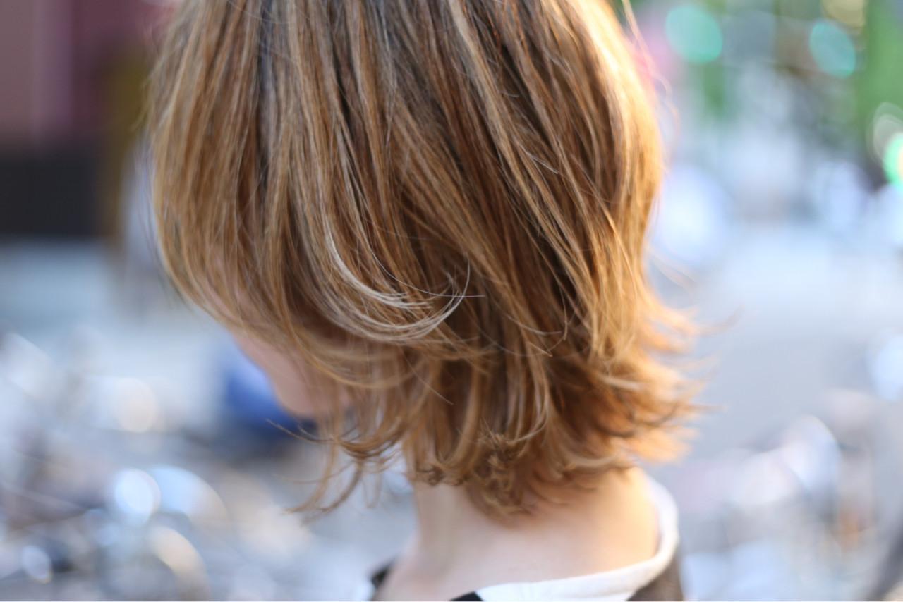 デート ヘアアレンジ オフィス ミディアム ヘアスタイルや髪型の写真・画像 | 田村 一生 / Barouc'he (バローチェ)