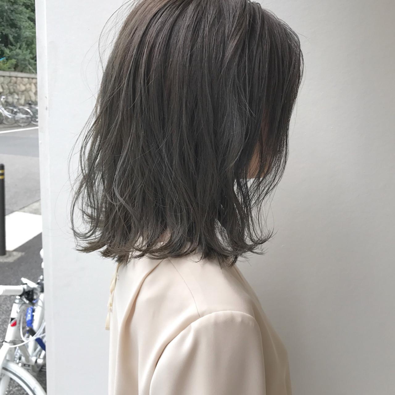 切りっぱなし 透明感 ハイライト ロブ ヘアスタイルや髪型の写真・画像 | KENTO.NOESALON / NOE SALON