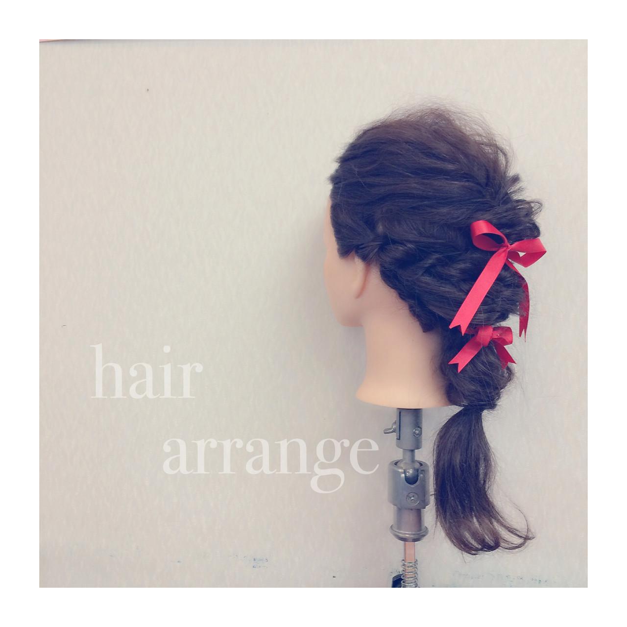 結婚式 フェミニン セミロング 二次会 ヘアスタイルや髪型の写真・画像 | ヤマナカサトル / DIOR of Hair