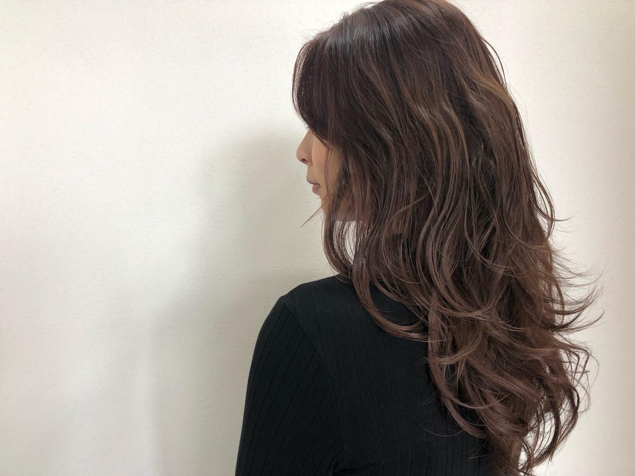 ピンクバイオレット ナチュラル セミロング ピンクラベンダー ヘアスタイルや髪型の写真・画像   佐藤タカヒロ / Gritter