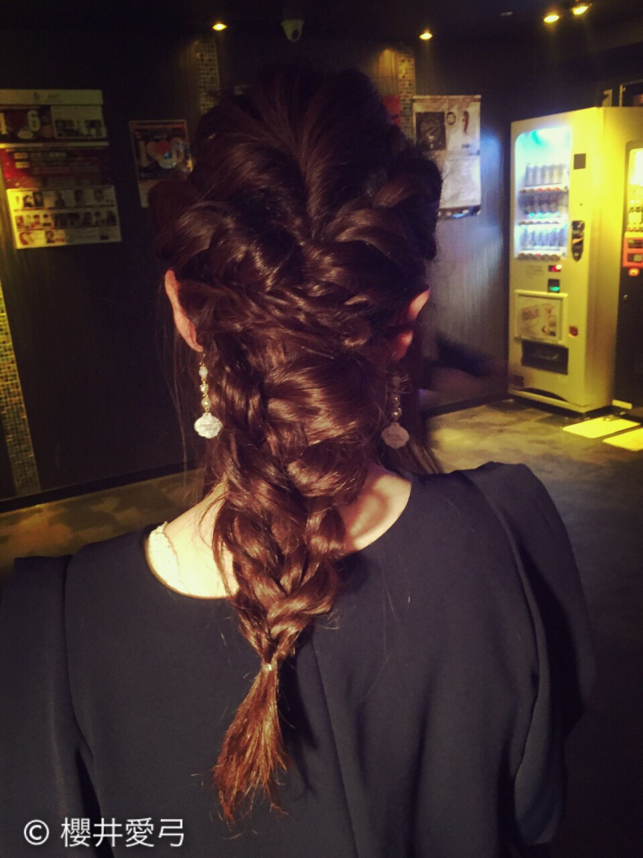 編み込み コンサバ フェミニン ゆるふわ ヘアスタイルや髪型の写真・画像 | 櫻井愛弓 / GARDEN
