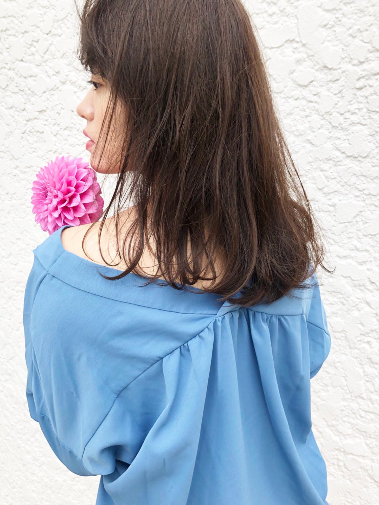 外国人風 透明感 パーマ セミロング ヘアスタイルや髪型の写真・画像 | 日野 達也 / GO TODAY  SHAiRE SALON