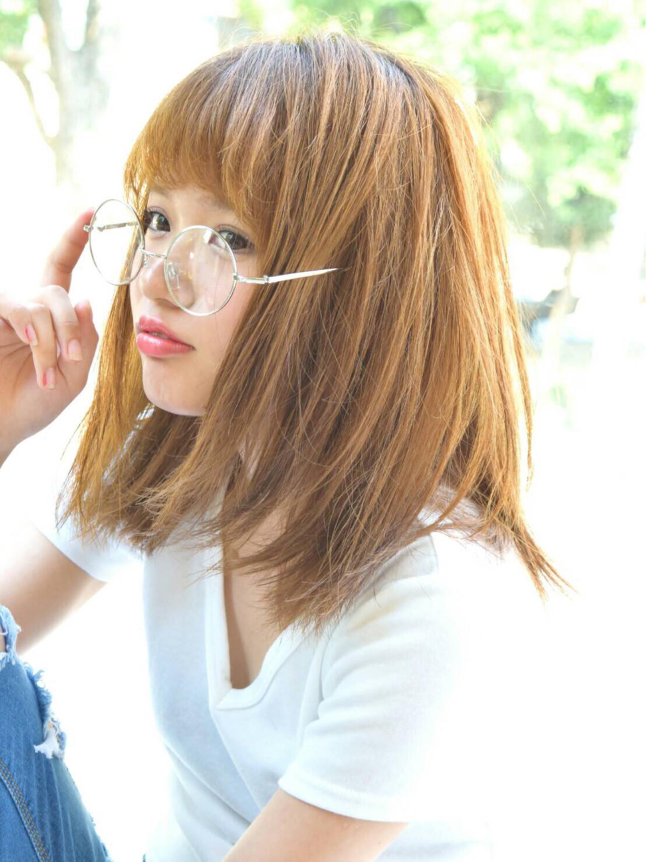 くせ毛風 ボブ ストリート ミディアム ヘアスタイルや髪型の写真・画像 | 島田 茜 /