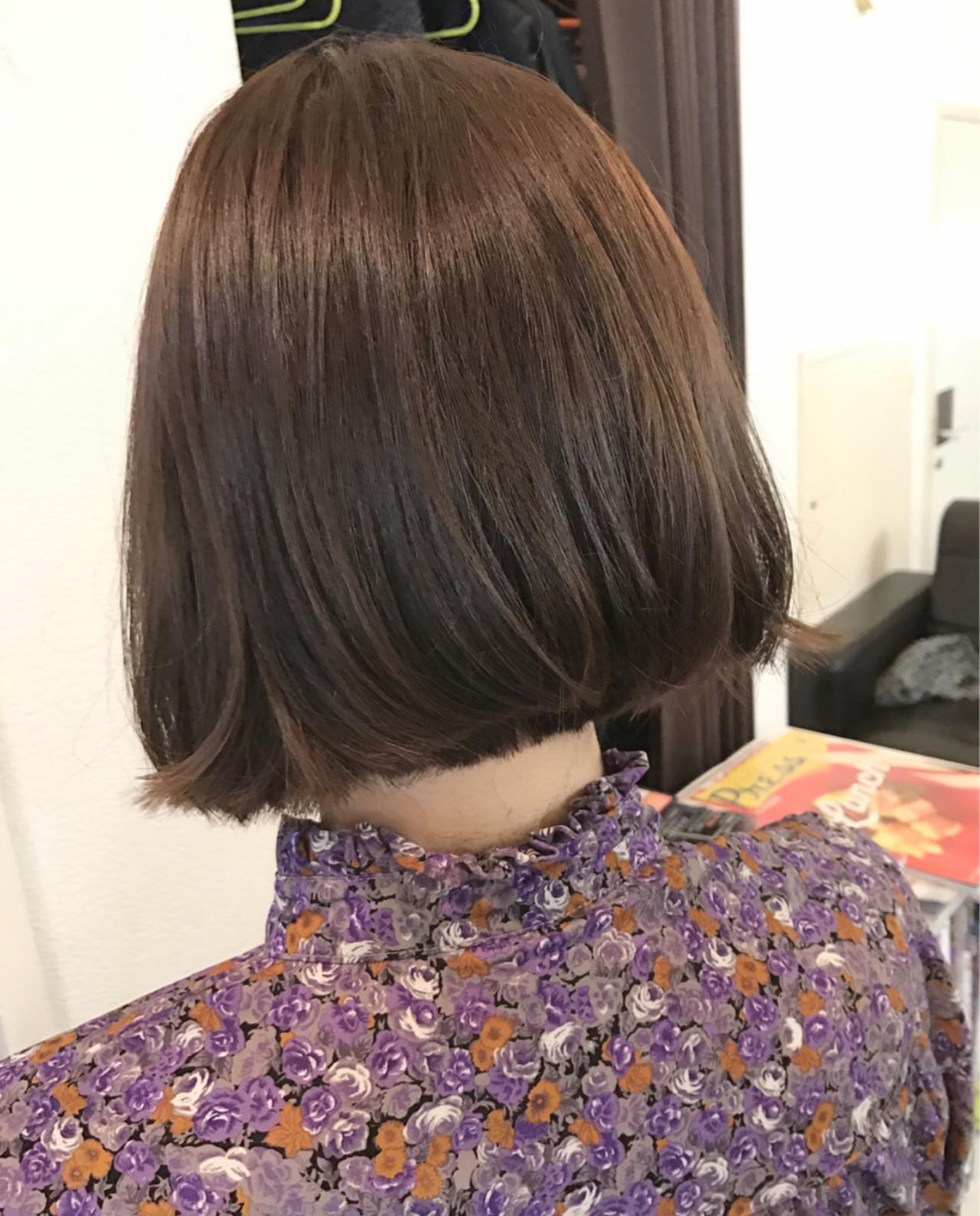 ボブ ミルクティー ベージュ ナチュラル ヘアスタイルや髪型の写真・画像 | 桝田 由佳 / フリーランスでしてます!お電話のご予約不可です