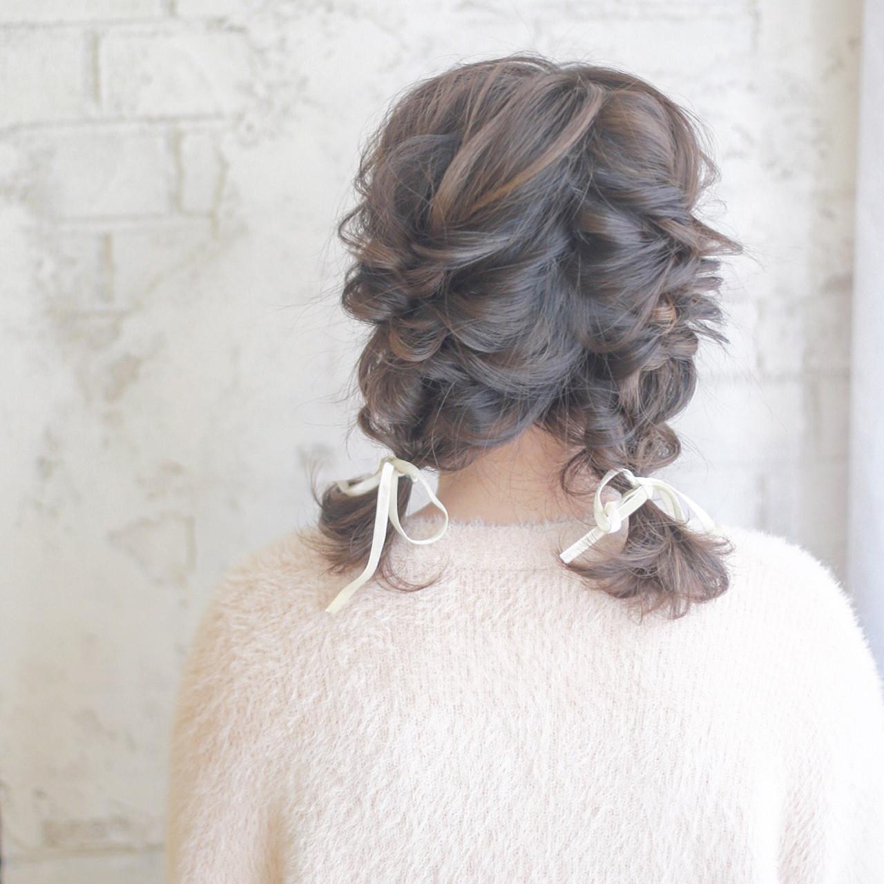 ハイライト 簡単ヘアアレンジ ミディアム ヘアアレンジ ヘアスタイルや髪型の写真・画像 | 谷本将太 nalu hair / nalu hair  (ナルーヘアー)