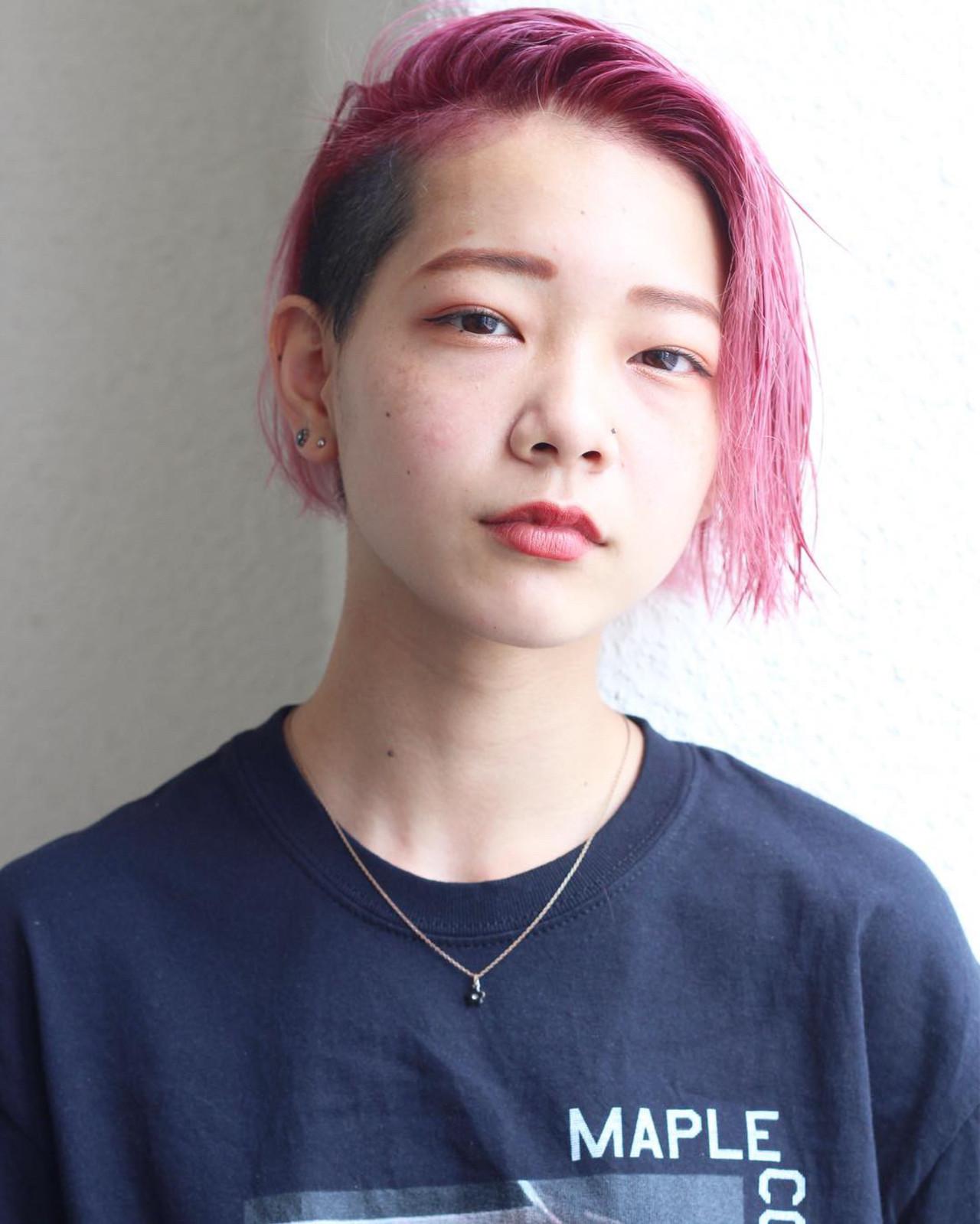 ショート ベリーピンク スポーツ ピンクヘア ヘアスタイルや髪型の写真・画像 | 松田 和幸 / tuuli