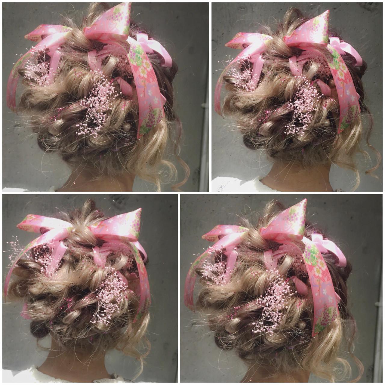 ヘアアレンジ ミディアム ハーフアップ 簡単ヘアアレンジ ヘアスタイルや髪型の写真・画像 | MOTAI / Wille / Wille