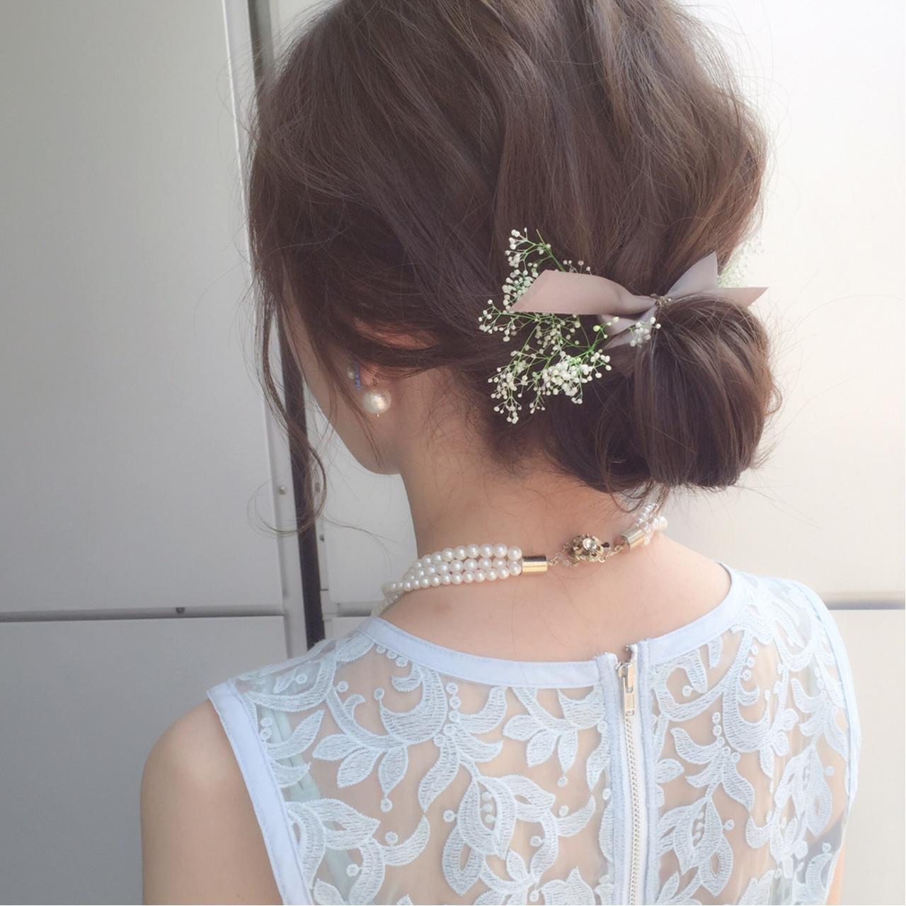 お団子 簡単ヘアアレンジ ミディアム ショート ヘアスタイルや髪型の写真・画像 | 鈴木 貴仁 / Ar and e.m.a   TAKA