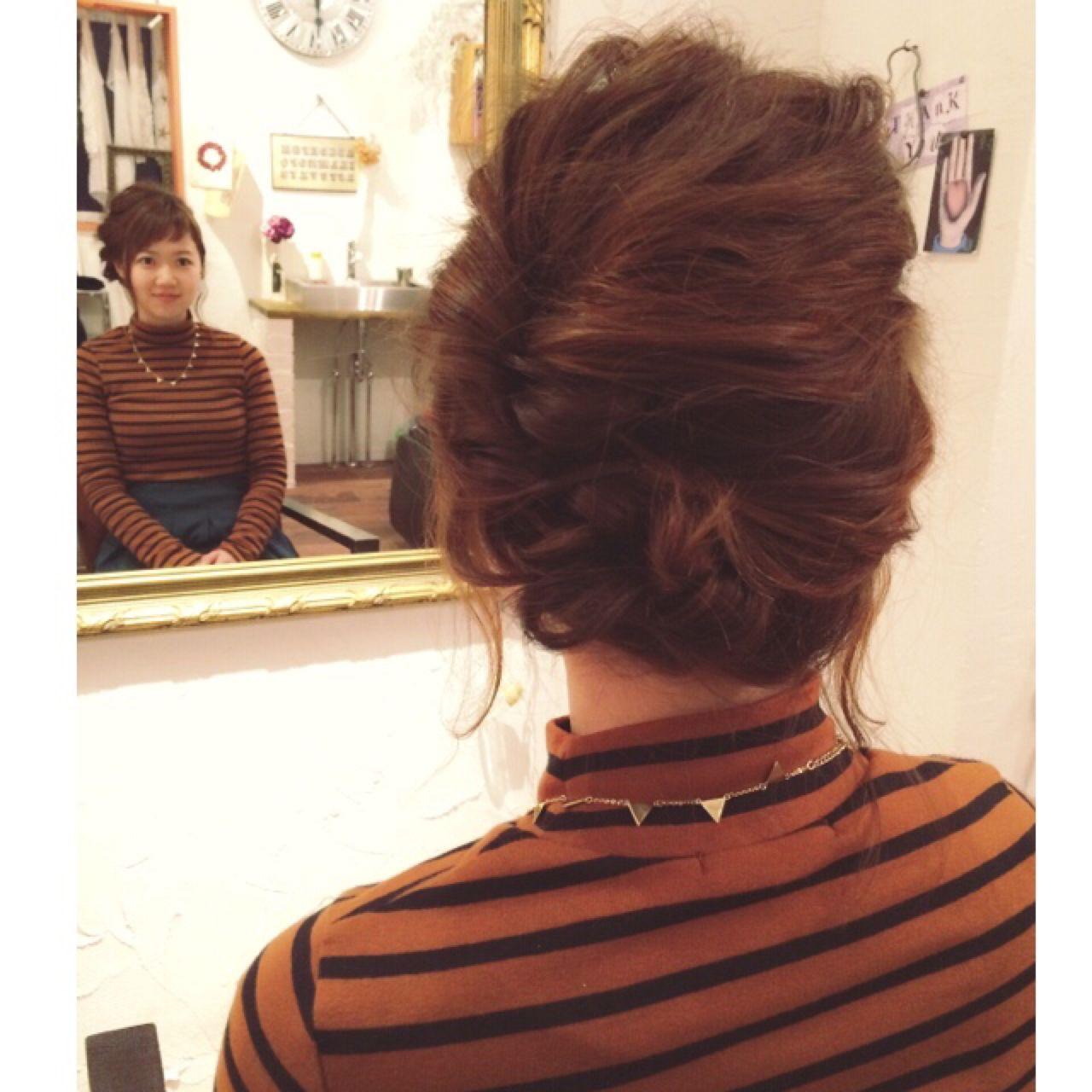 結婚式 大人かわいい ヘアアレンジ 簡単ヘアアレンジ ヘアスタイルや髪型の写真・画像   川内道子 instagram→michiko_k / Noelle インスタ→michiko_k