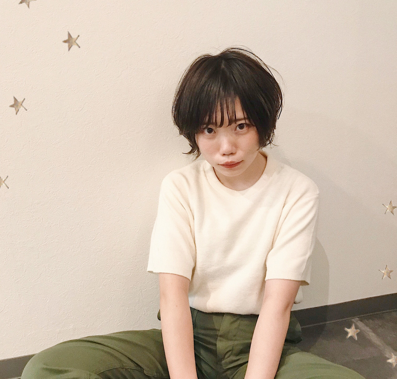 ショート ゆる巻き ナチュラル ショートヘア ヘアスタイルや髪型の写真・画像 | 市川千夏*札幌 / salon AKIRA