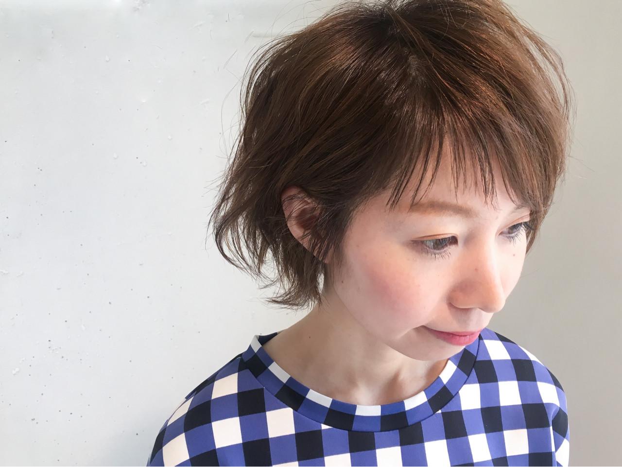 ショート 斜め前髪 ニュアンス 前髪あり ヘアスタイルや髪型の写真・画像 | 鈴木 謙太 / HAIRLOGY