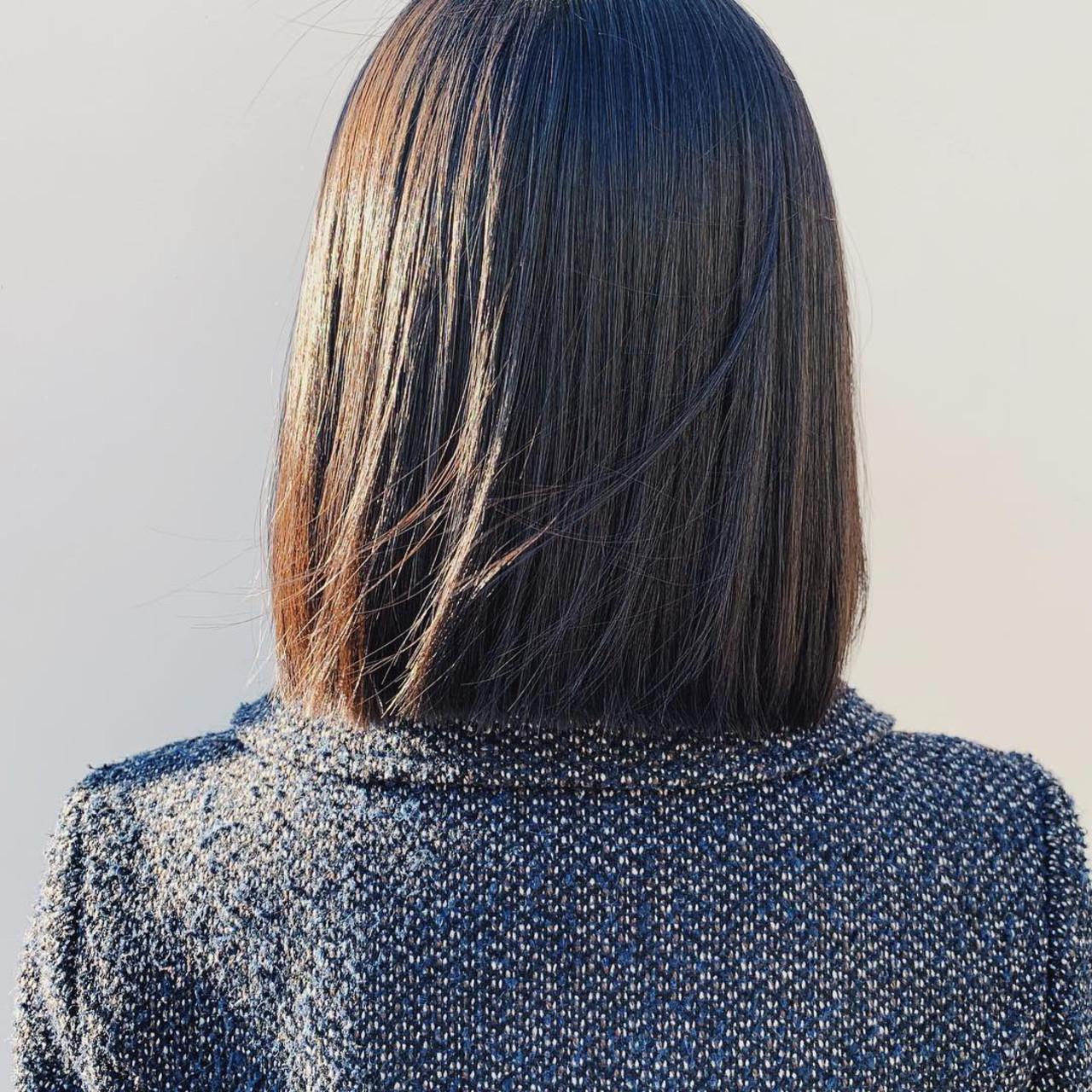 ナチュラル ヌーディベージュ ボブ ブラウンベージュヘアスタイルや髪型の写真・画像