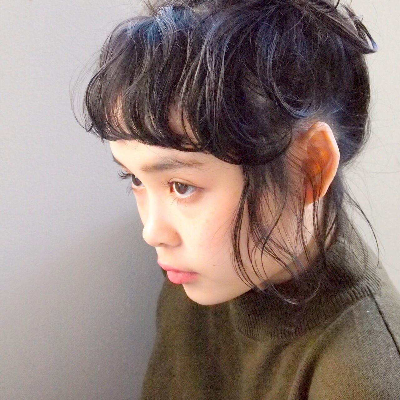 ヘアアレンジ ガーリー 黒髪 ボブ ヘアスタイルや髪型の写真・画像 | UEKI/nanuk / nanuk二子玉川
