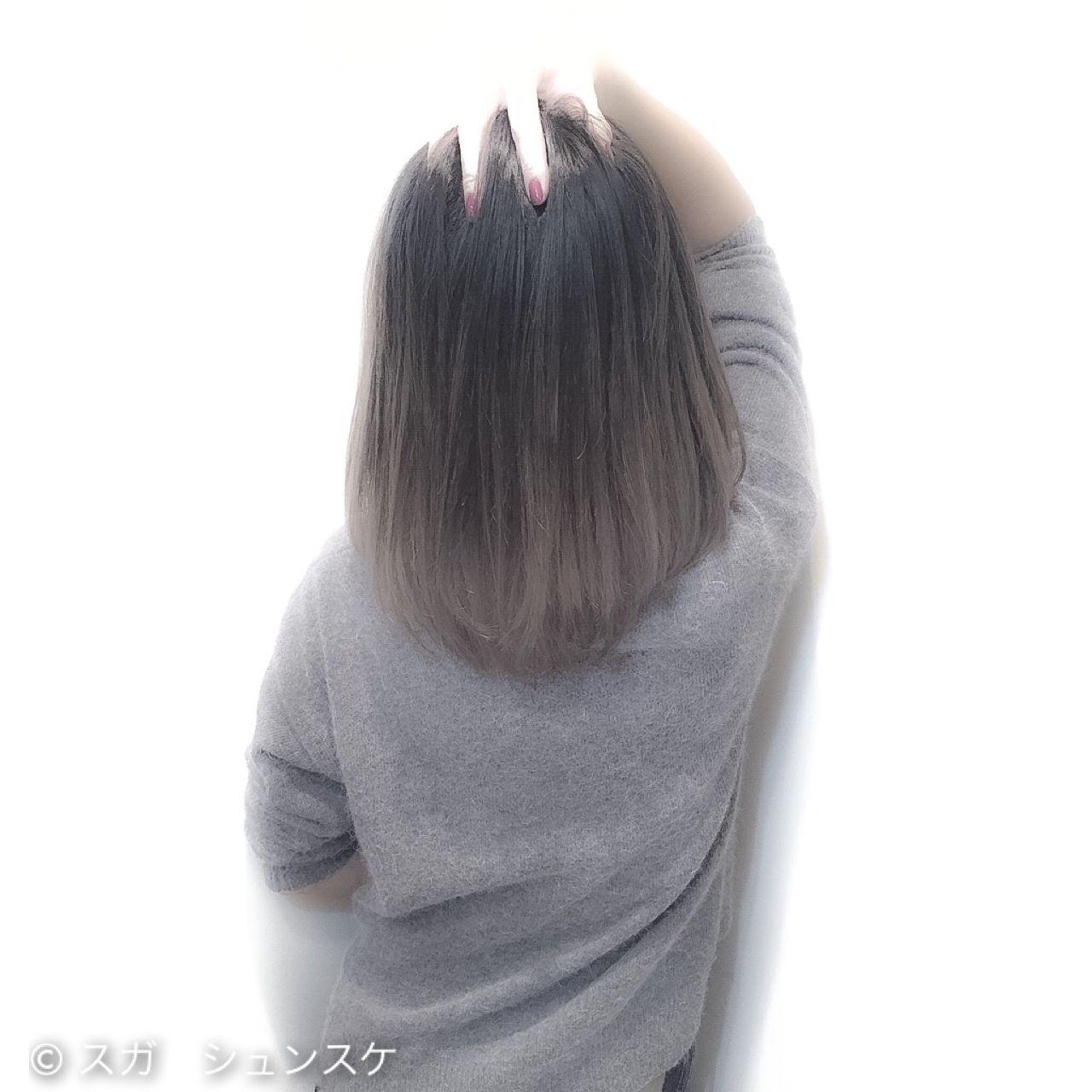 ミディアム アッシュ ストリート 外国人風 ヘアスタイルや髪型の写真・画像 | スガ シュンスケ / Tierra (ティエラ)