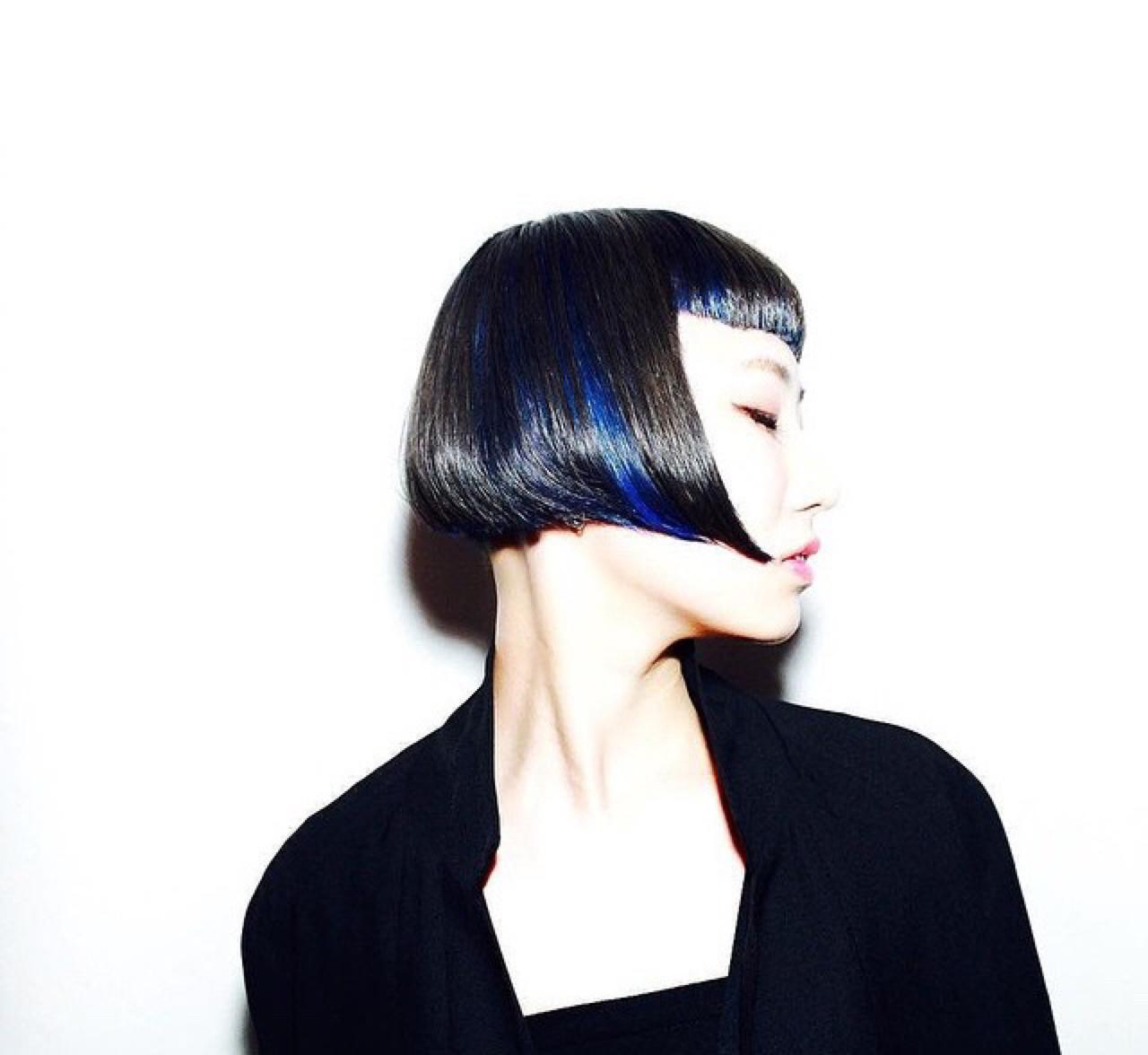 黒髪 ショート モード かっこいい ヘアスタイルや髪型の写真・画像 | ruka /