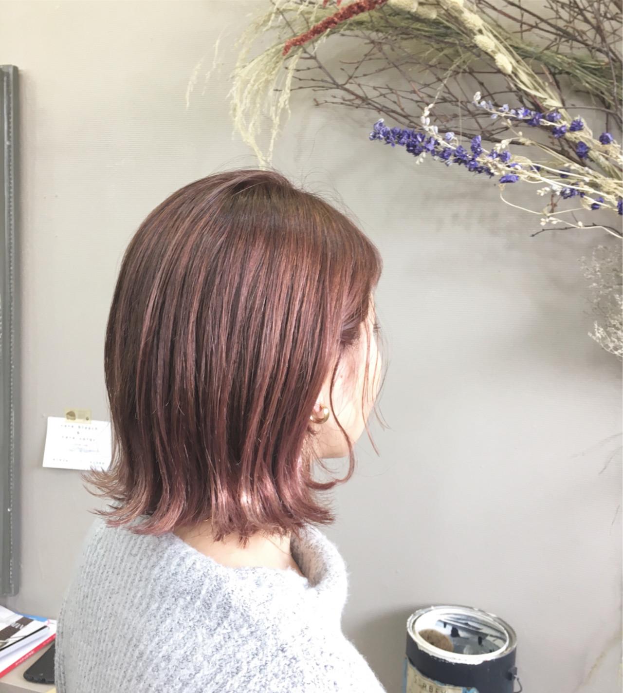 ボブ ハイライト スポーツ メッシュ ヘアスタイルや髪型の写真・画像 | kazue / hair make design paf