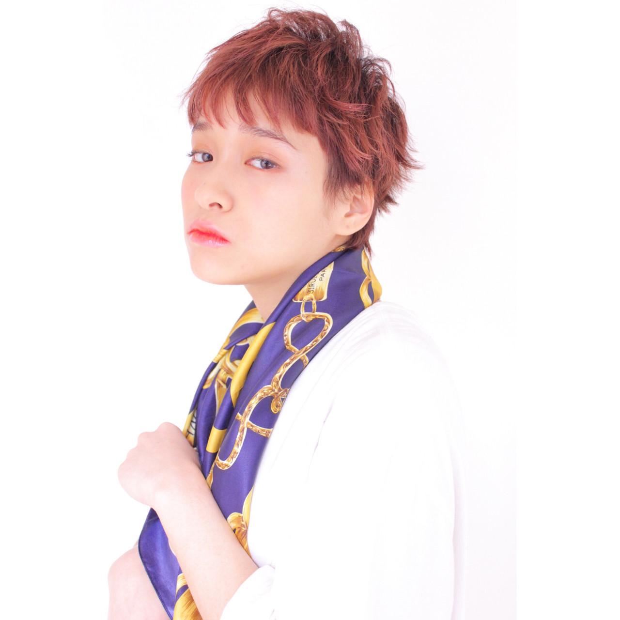 ベリーショート ショート 外国人風カラー フェミニン ヘアスタイルや髪型の写真・画像 | 堂園知里 / hair Mission