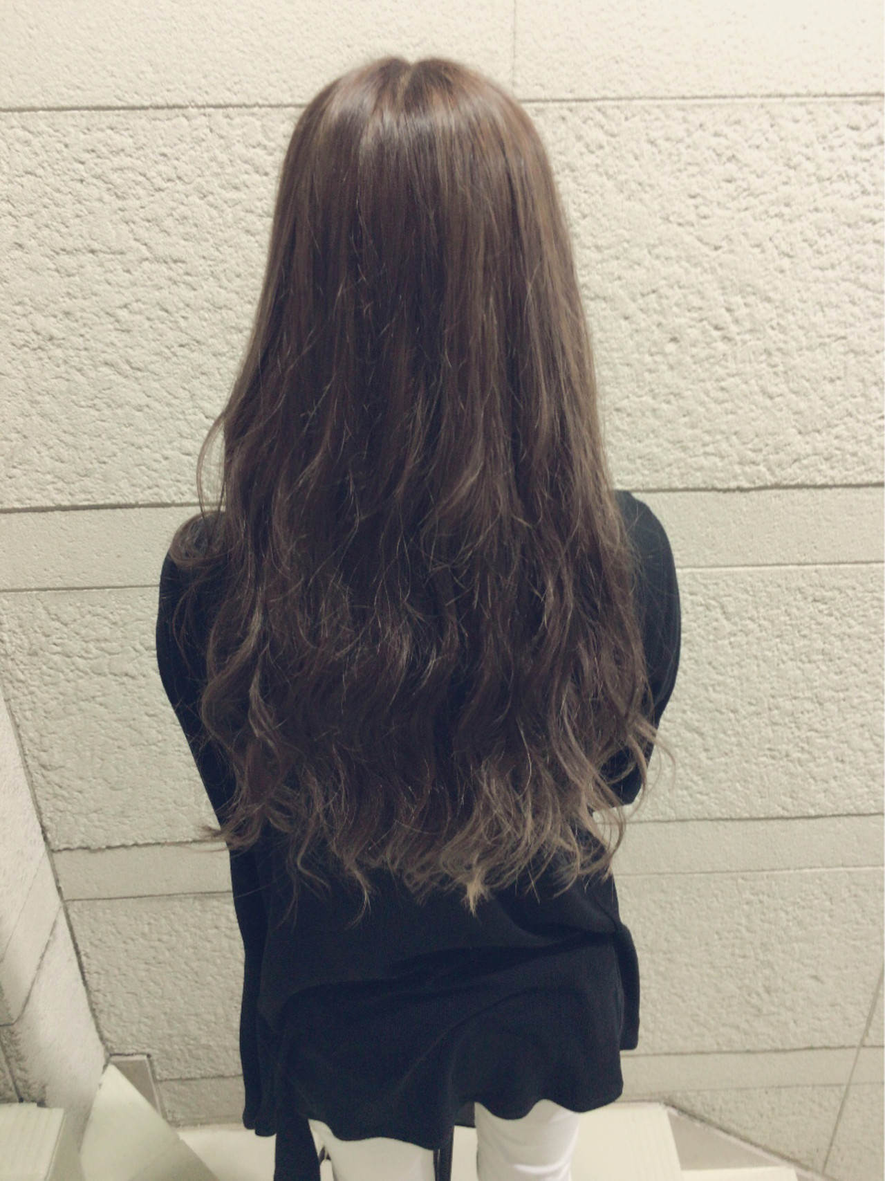 無造作 大人かわいい ロング ラベンダー ヘアスタイルや髪型の写真・画像 | 瀧口 和也 / Belle Grow  Blossom