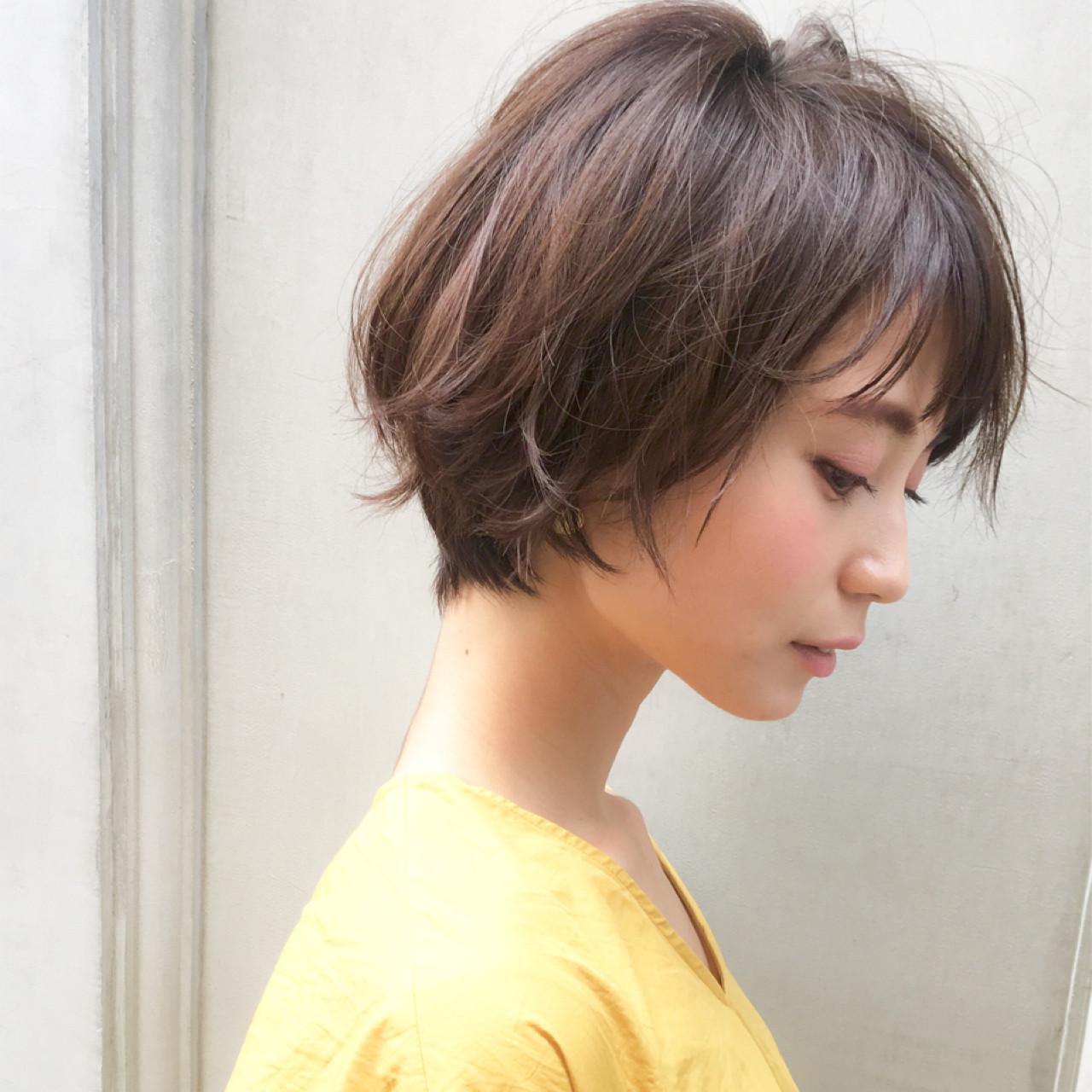 デート ヘアアレンジ ショート 冬ヘアスタイルや髪型の写真・画像