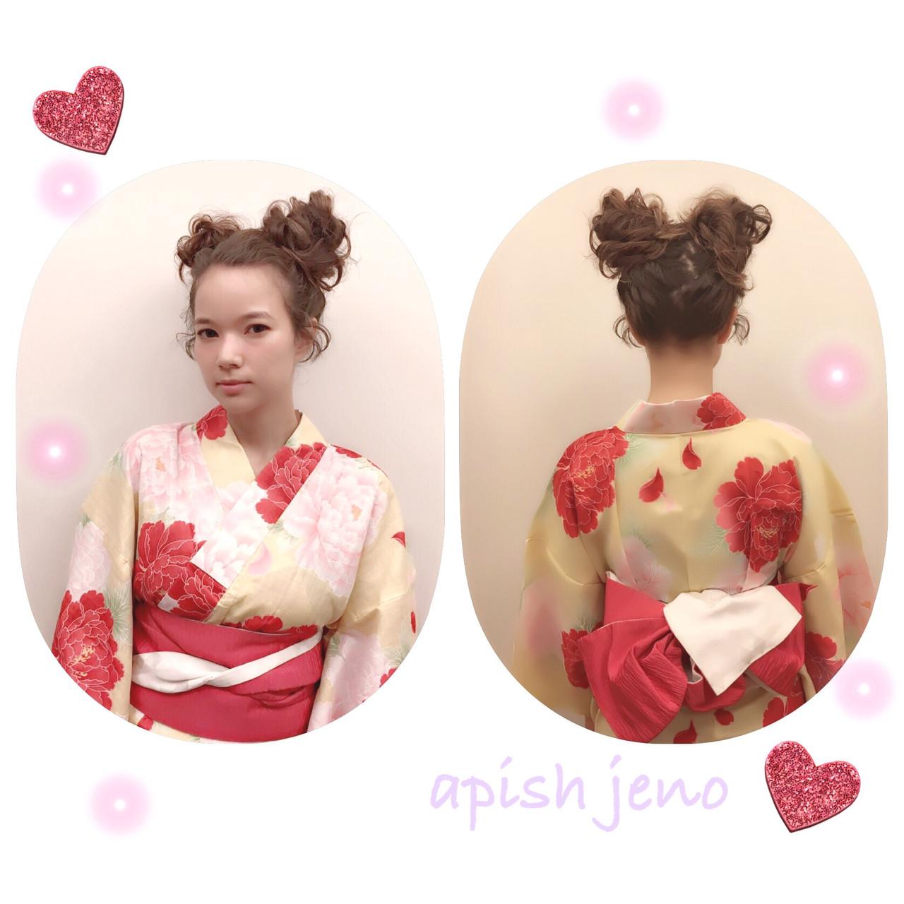 ヘアアレンジ ロング 簡単ヘアアレンジ お祭り ヘアスタイルや髪型の写真・画像   apish ginZa 青木杏奈 / apish ginZa