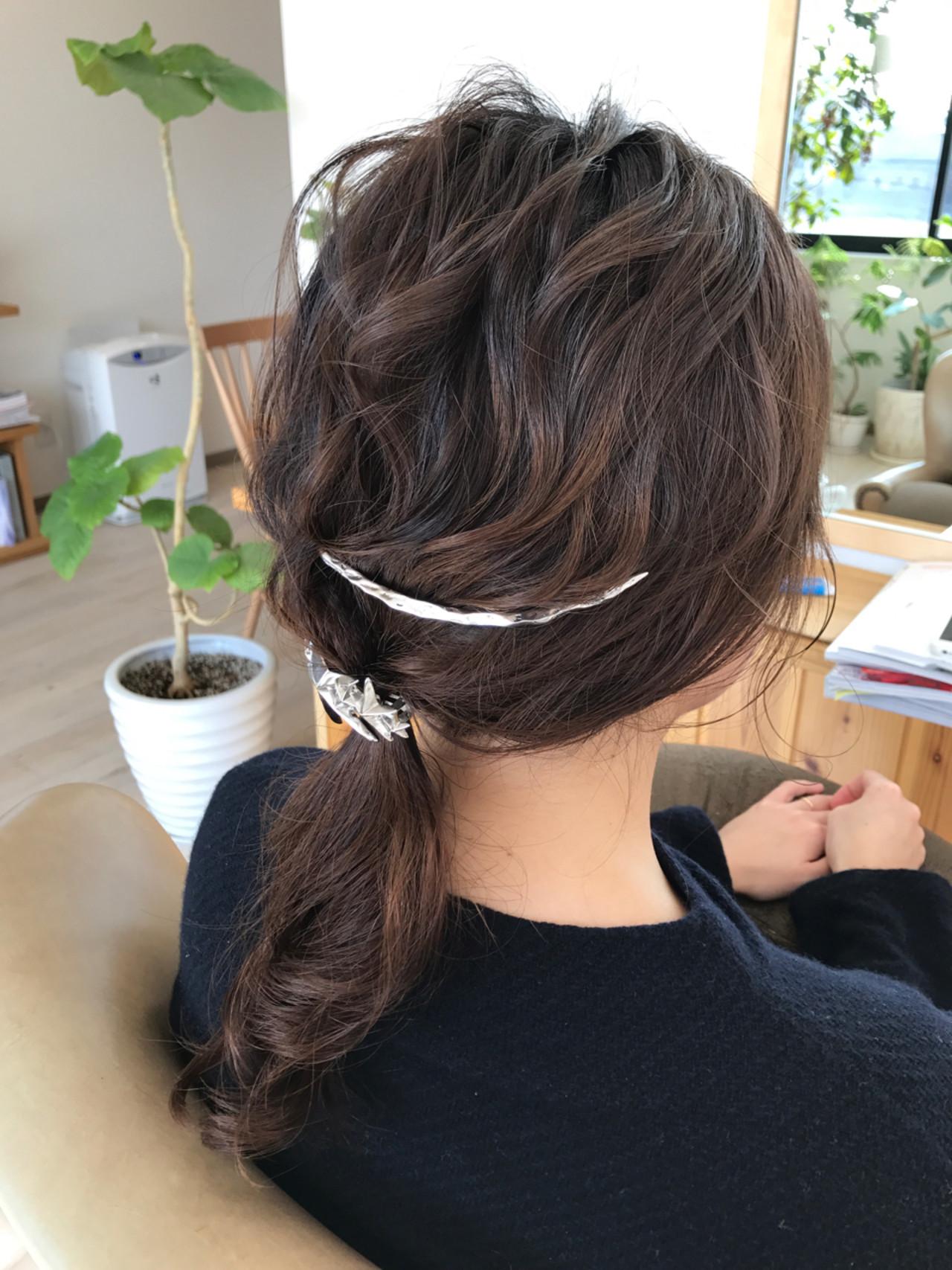簡単ヘアアレンジ ショート ヘアアレンジ こなれ感 ヘアスタイルや髪型の写真・画像 | 宇渡 裕一 / Lillie hair&spa