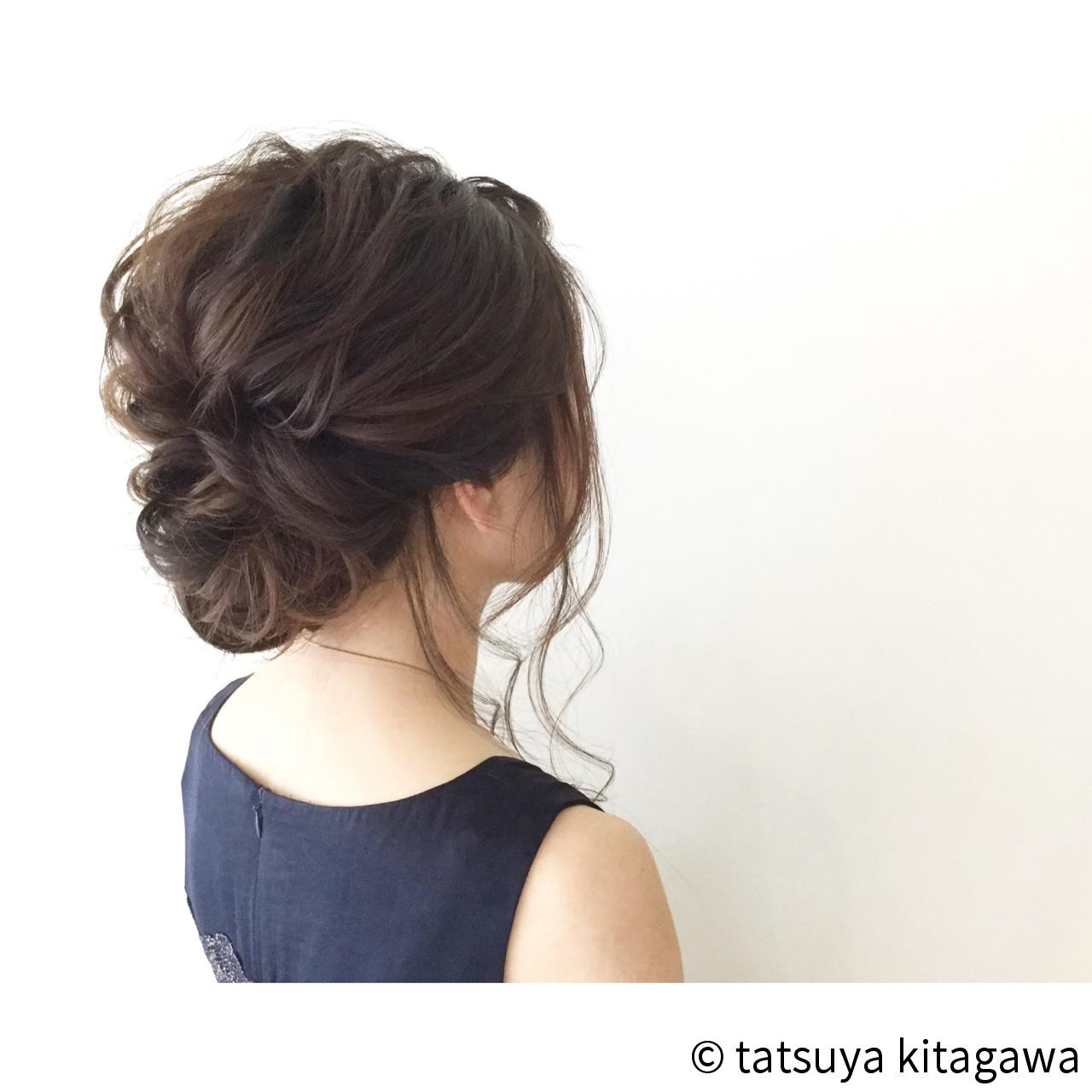花嫁 結婚式 セミロング 外国人風ヘアスタイルや髪型の写真・画像