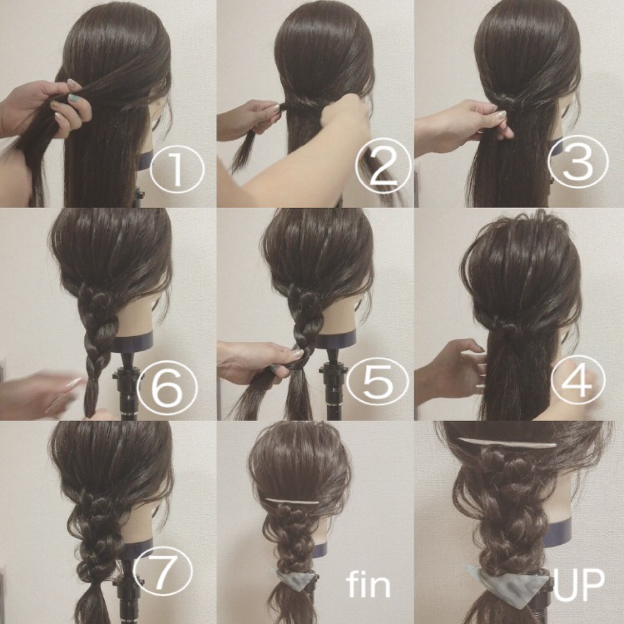 ショート ロング バレッタ 三つ編みヘアスタイルや髪型の写真・画像
