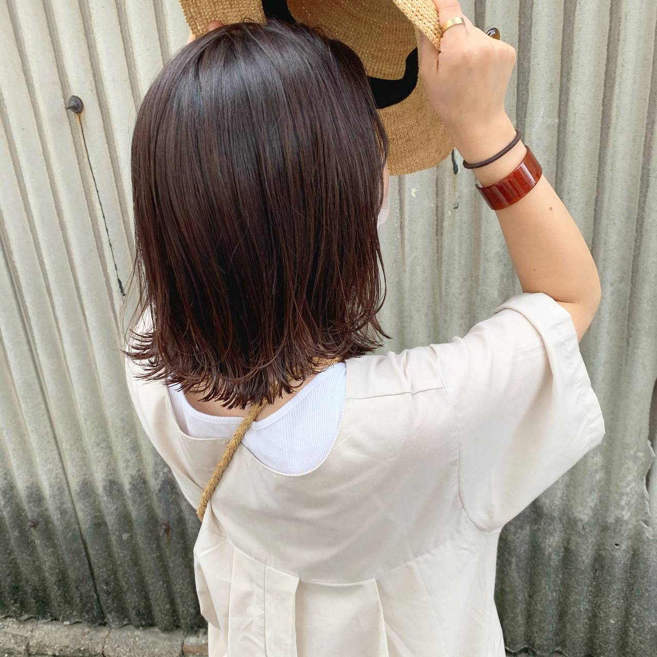オレンジブラウン オレンジ ガーリー 暖色ヘアスタイルや髪型の写真・画像