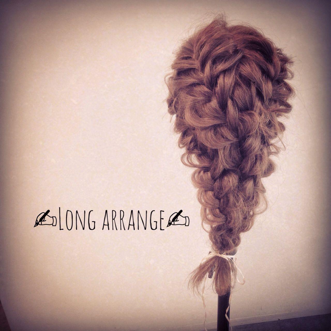 大人かわいい ナチュラル 編み込み ロング ヘアスタイルや髪型の写真・画像   yumiko/sapporoSKNOW / SKNOW