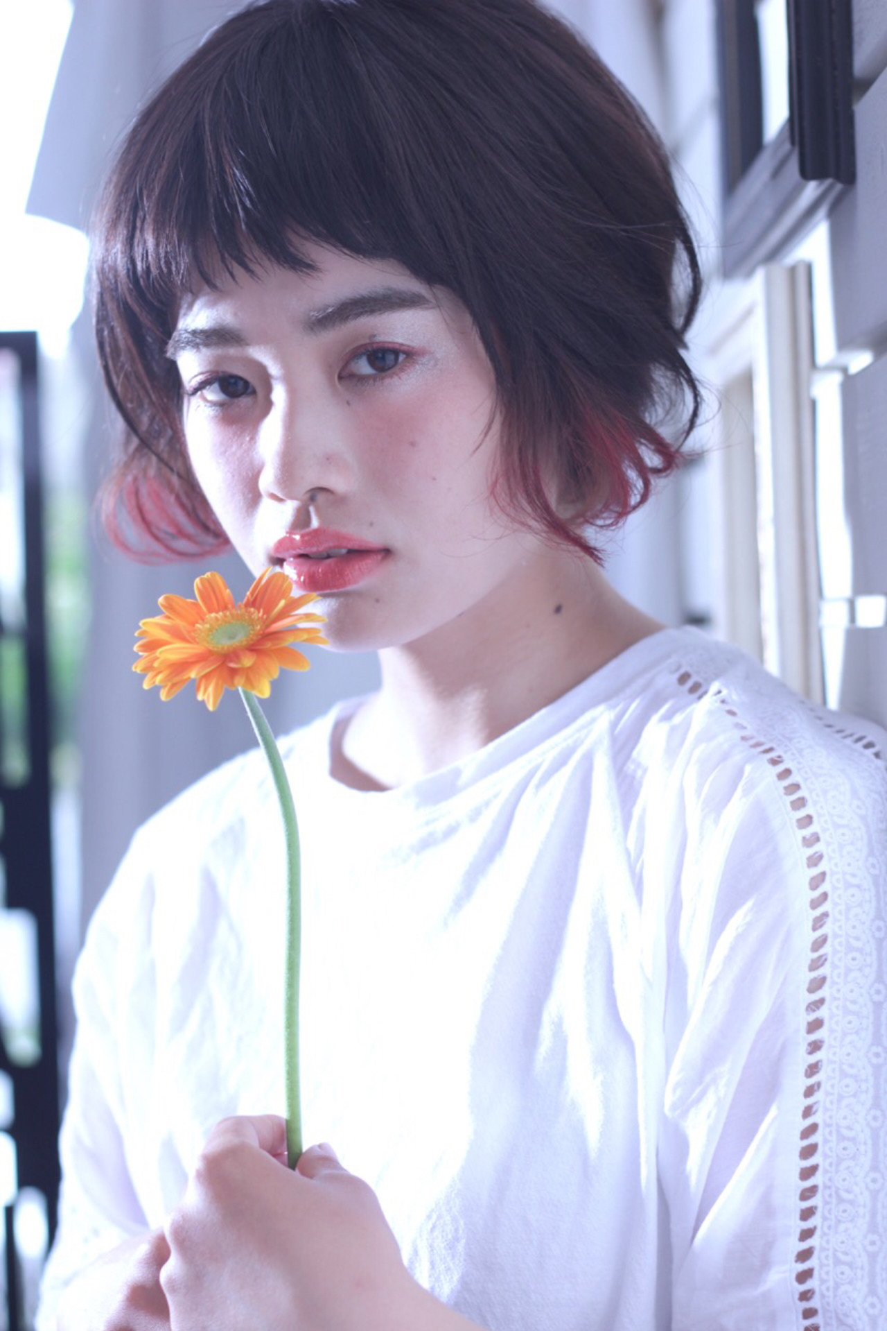 外国人風 ガーリー パーマ 前髪あり ヘアスタイルや髪型の写真・画像 | NON / hair&organic Lily