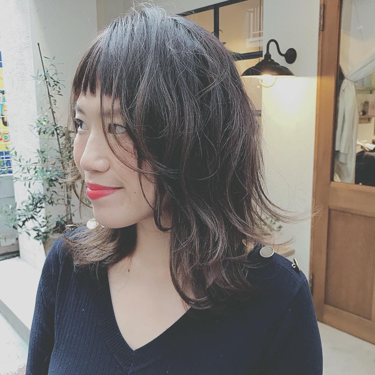 抜け感 ナチュラル ミディアム デート ヘアスタイルや髪型の写真・画像 | 浦川由起江 / nanon