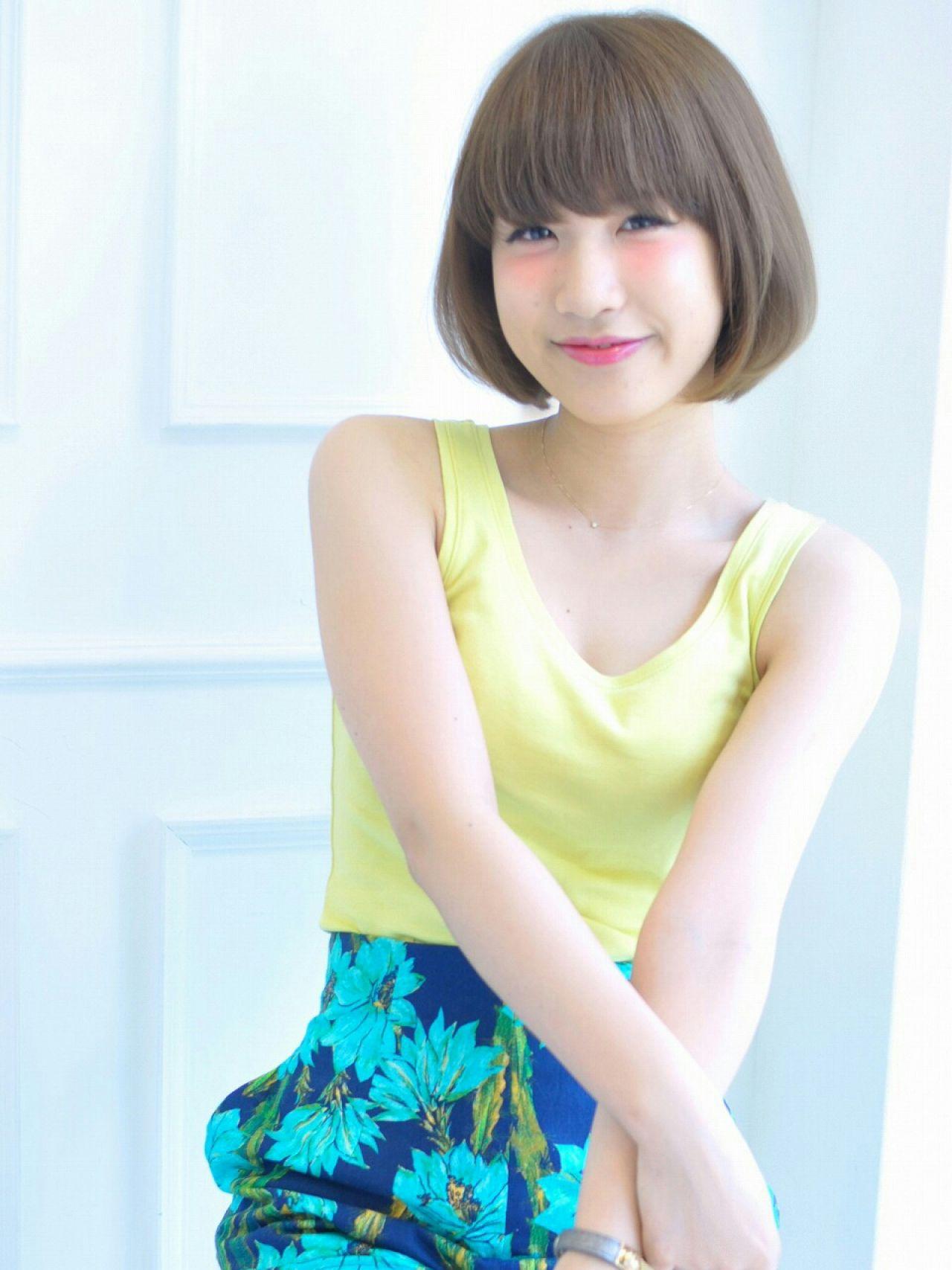 モテ髪 ボブ 大人かわいい 春 ヘアスタイルや髪型の写真・画像 | 西村友紀子 / Cubic by Dice        Dice