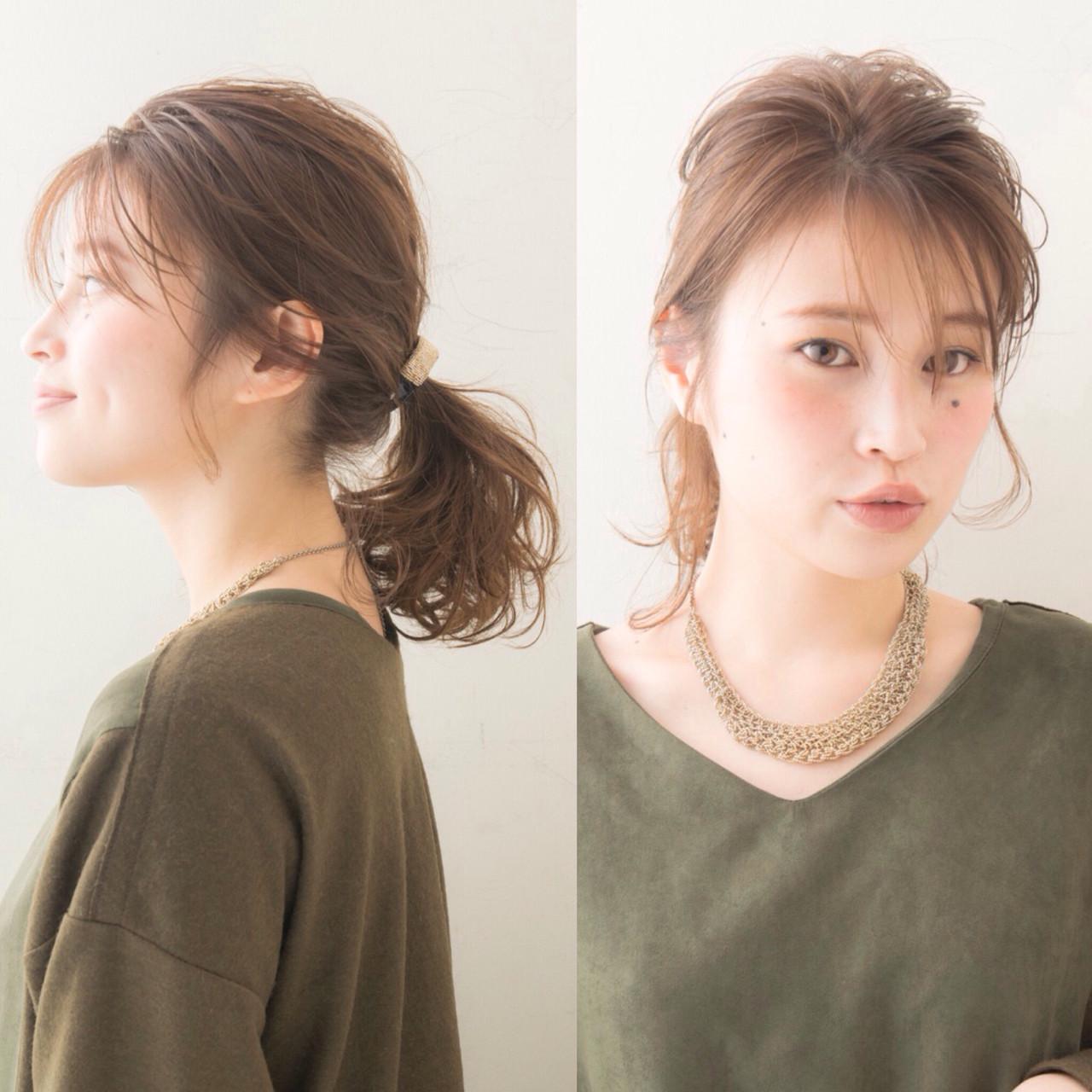 ショート ミディアム 大人かわいい 簡単ヘアアレンジ ヘアスタイルや髪型の写真・画像 | anti_RIKUSHI / ANTI