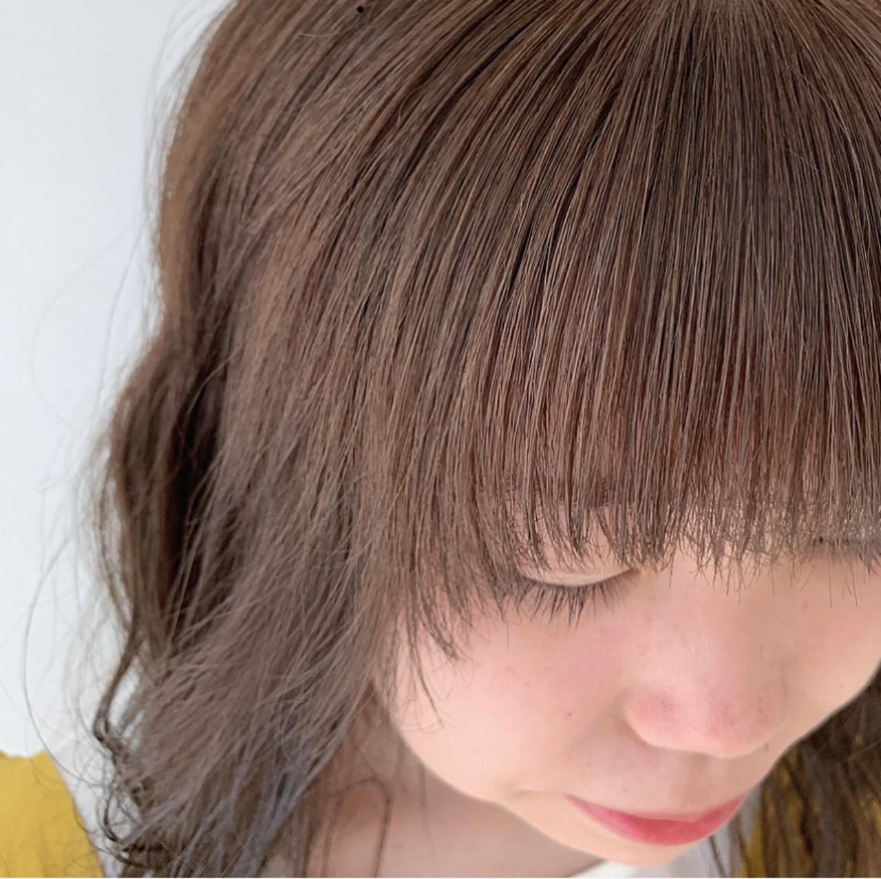 セミロング 前髪 ふんわり前髪 ガーリー ヘアスタイルや髪型の写真・画像 | 透明感セミロング/Hiroyuki_Kihara / Direction