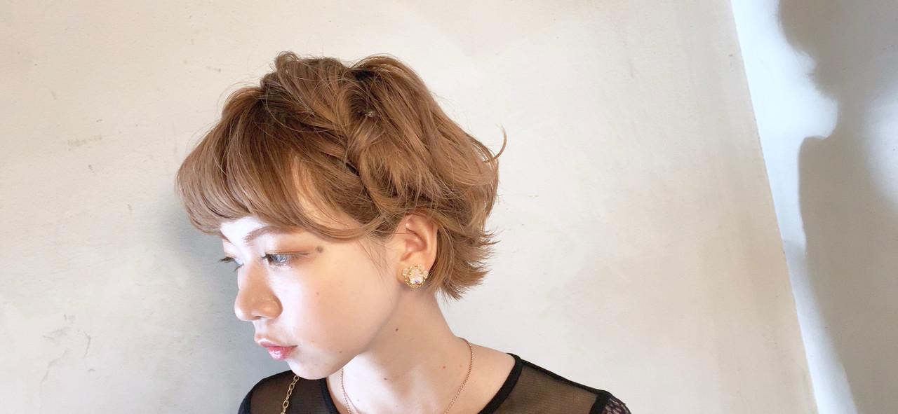 ガーリー ヘアアレンジ ショート 結婚式ヘアアレンジ ヘアスタイルや髪型の写真・画像   Taniguchi Yukiko / IRODORI hair design